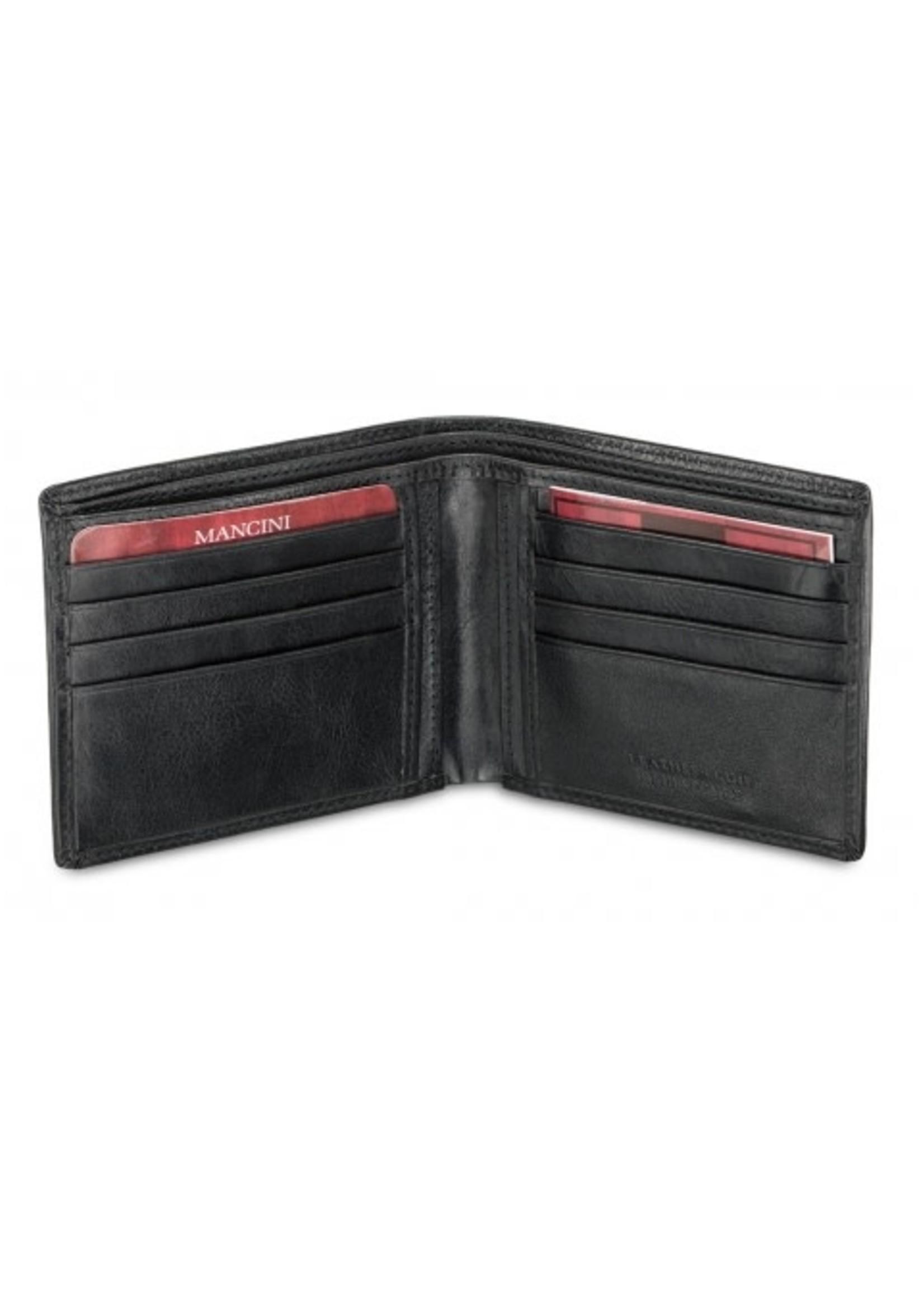Mancini Men's RFID Secure Classic Leather Billfold