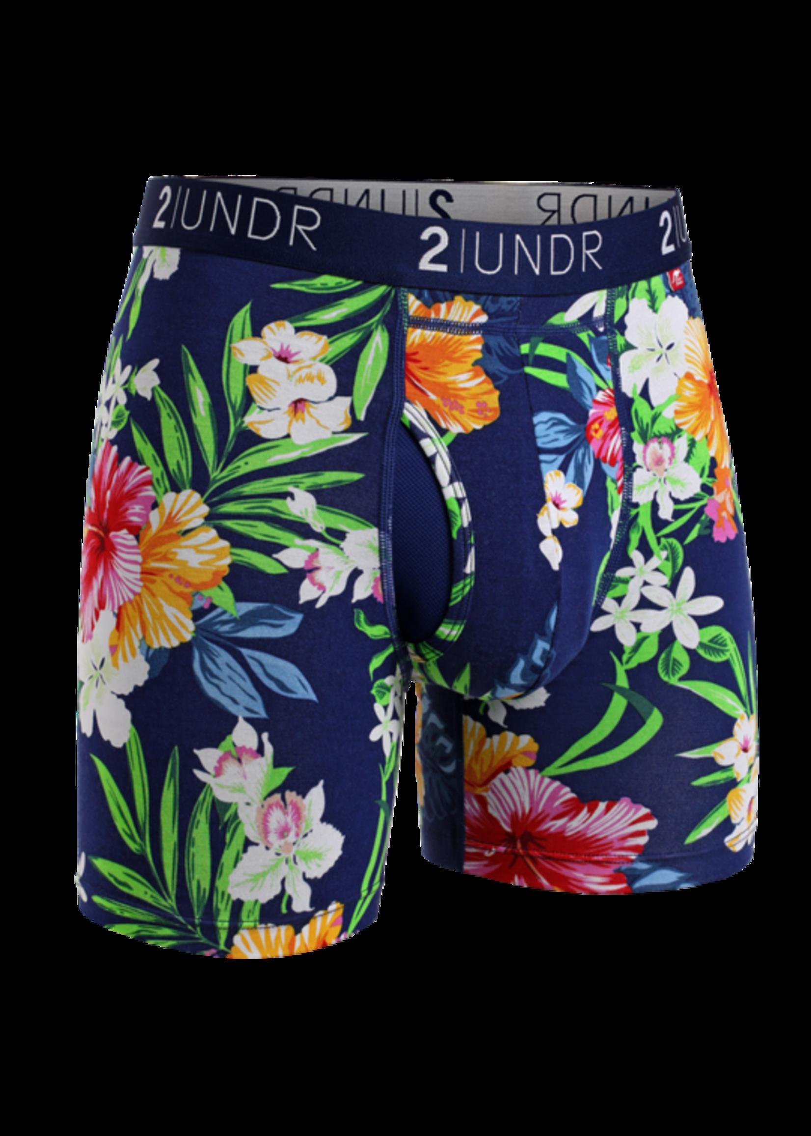 """2UNDR 2UND's """"Tahiti"""" Swing Shift Boxer Brief"""