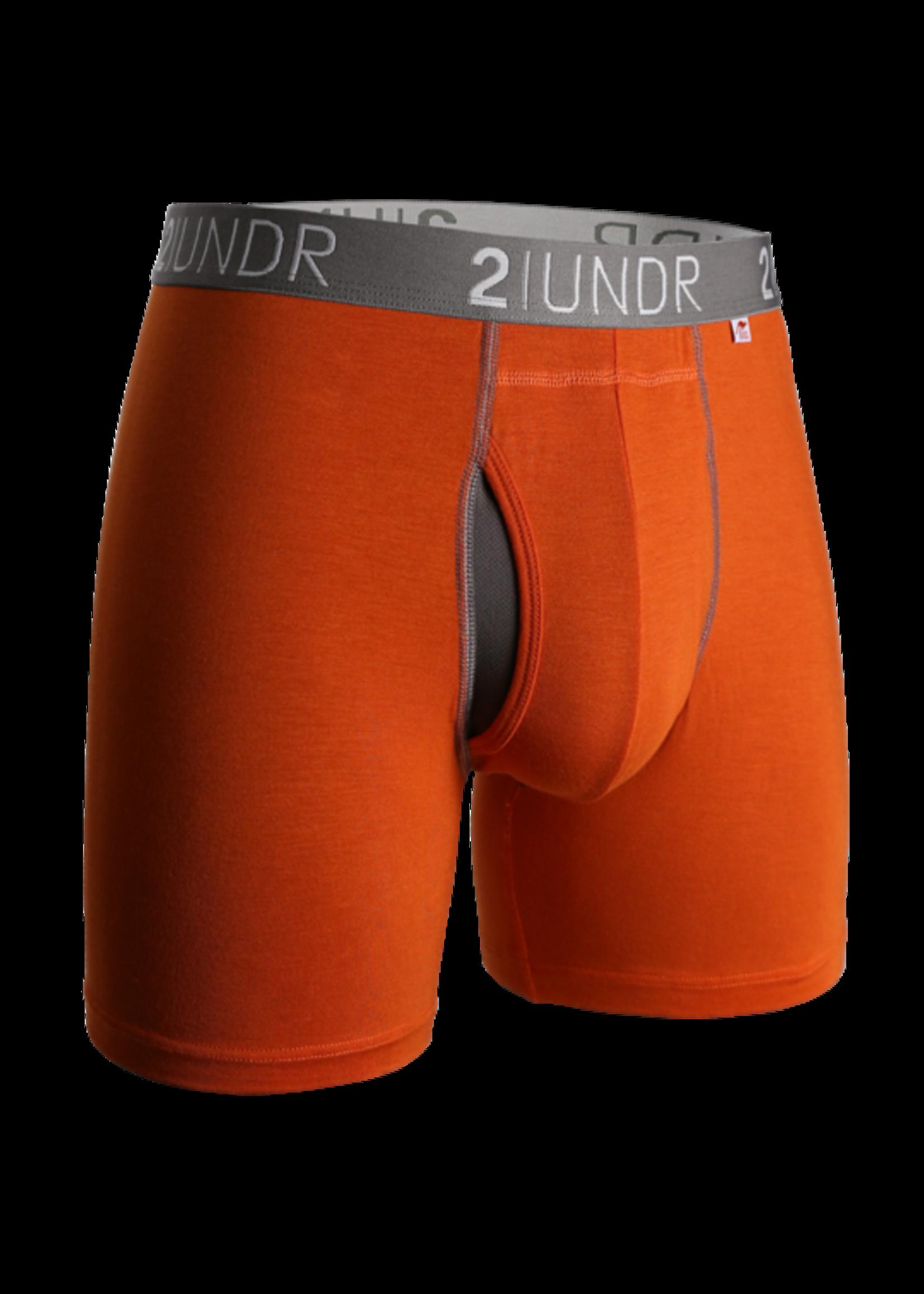 "2UNDR 2UNDR's ""Orange / Grey"" Swing Shift Boxer Brief"