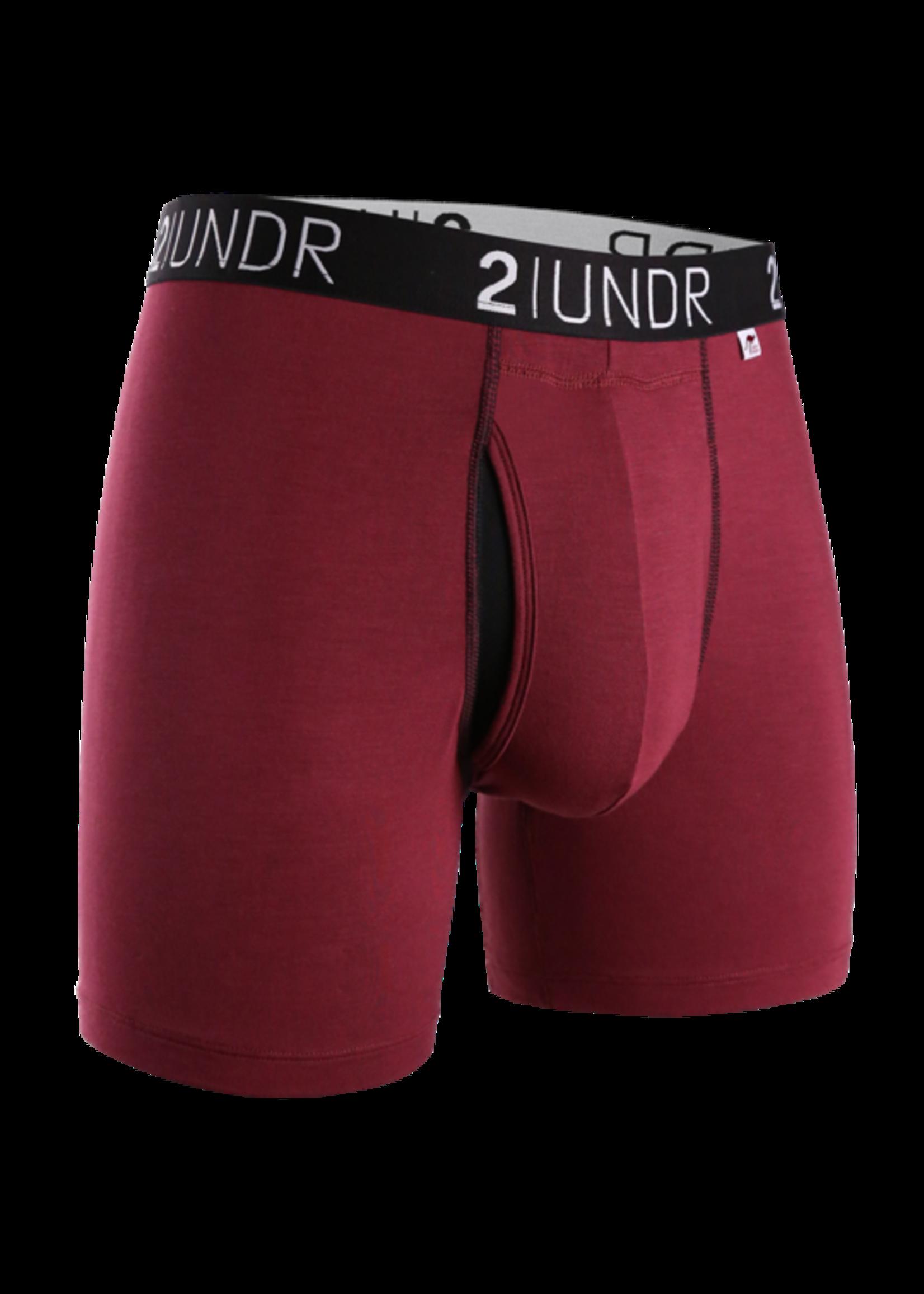 "2UNDR 2UNDR's ""Burgundy"" Swing Shift Boxer Brief"
