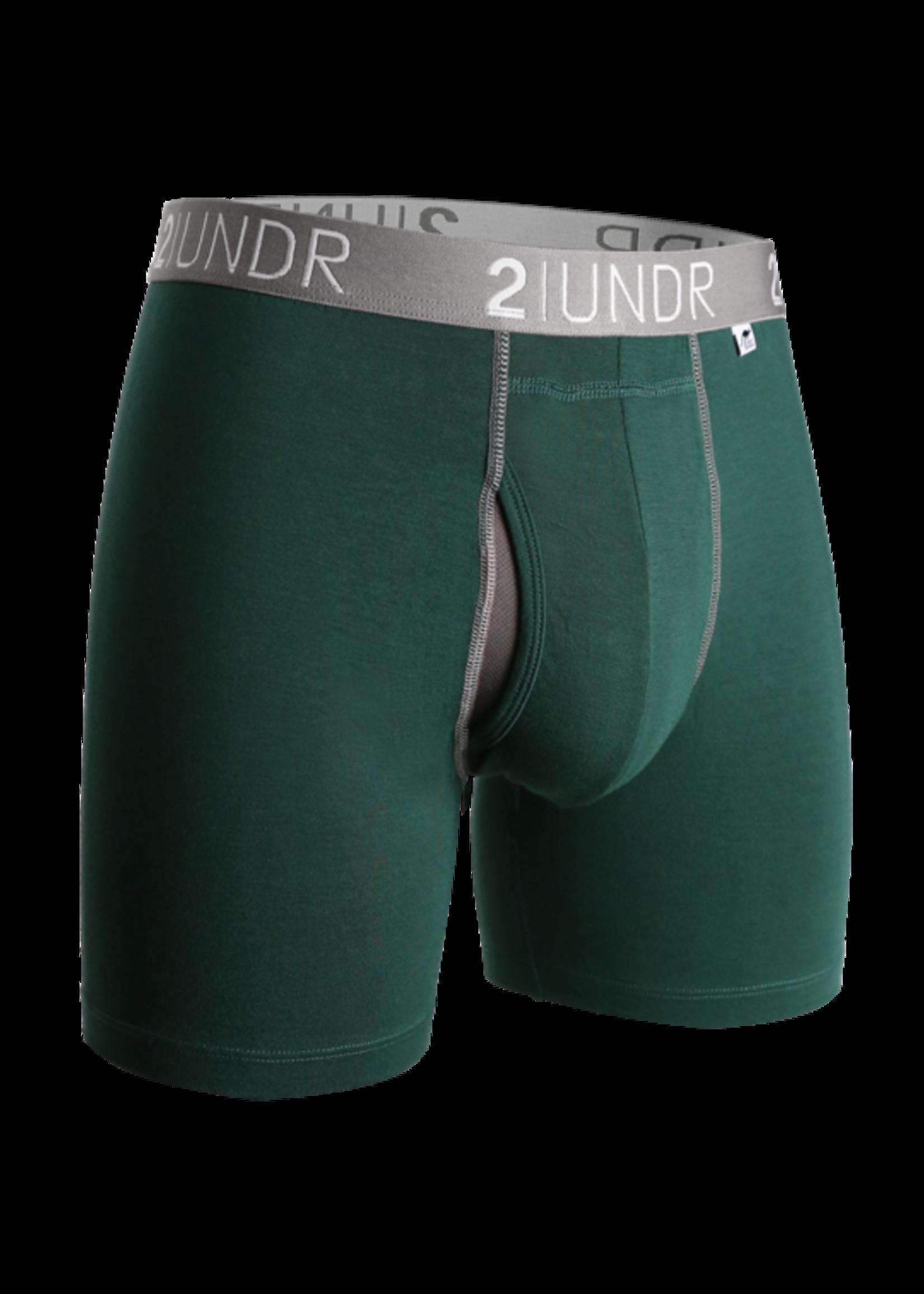 "2UNDR 2UNDR's ""Dark Green"" Swing Shift Boxer Brief"