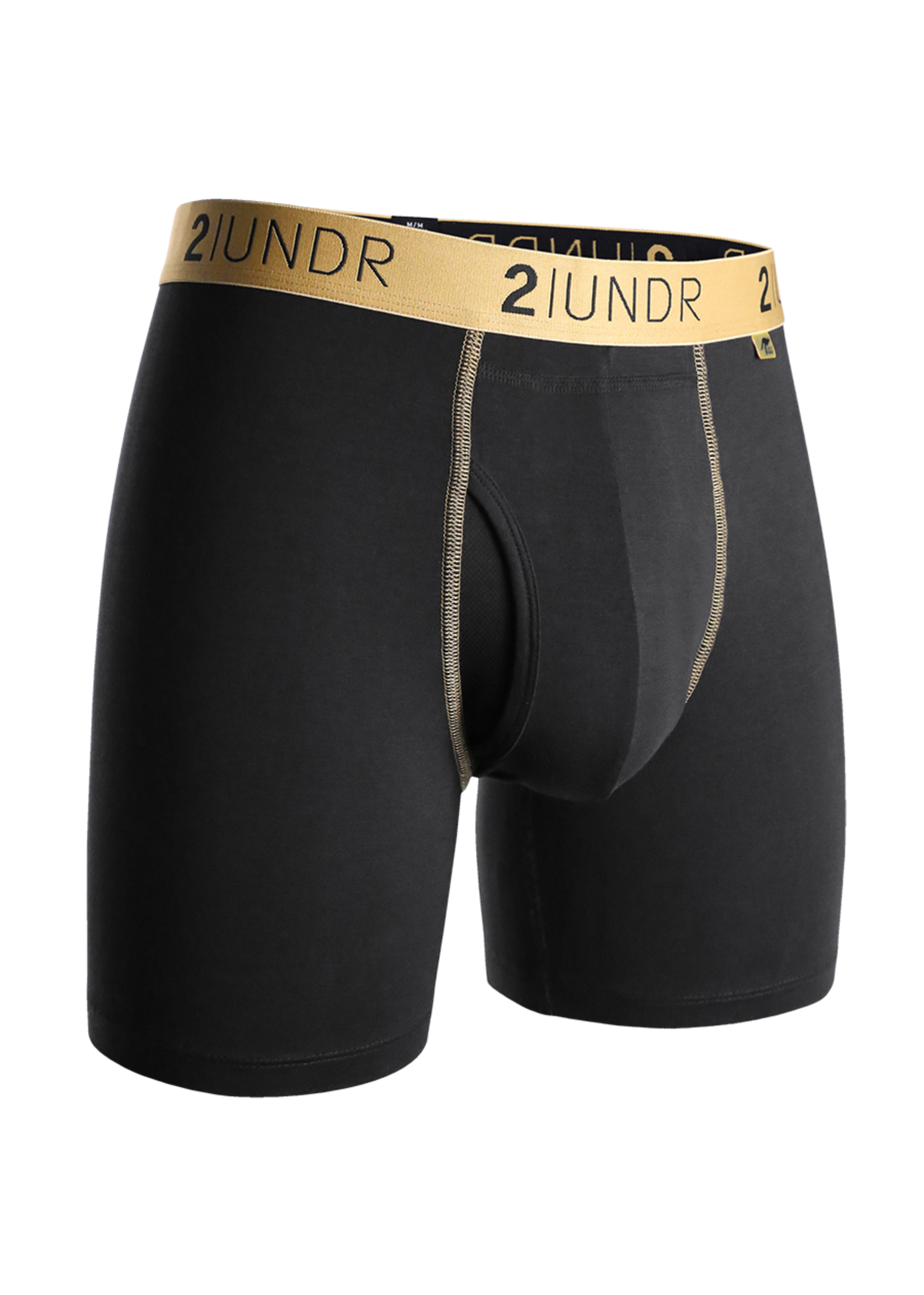 """2UNDR 2UNDR's """"Black / Gold"""" Swing Shift Boxer Brief"""