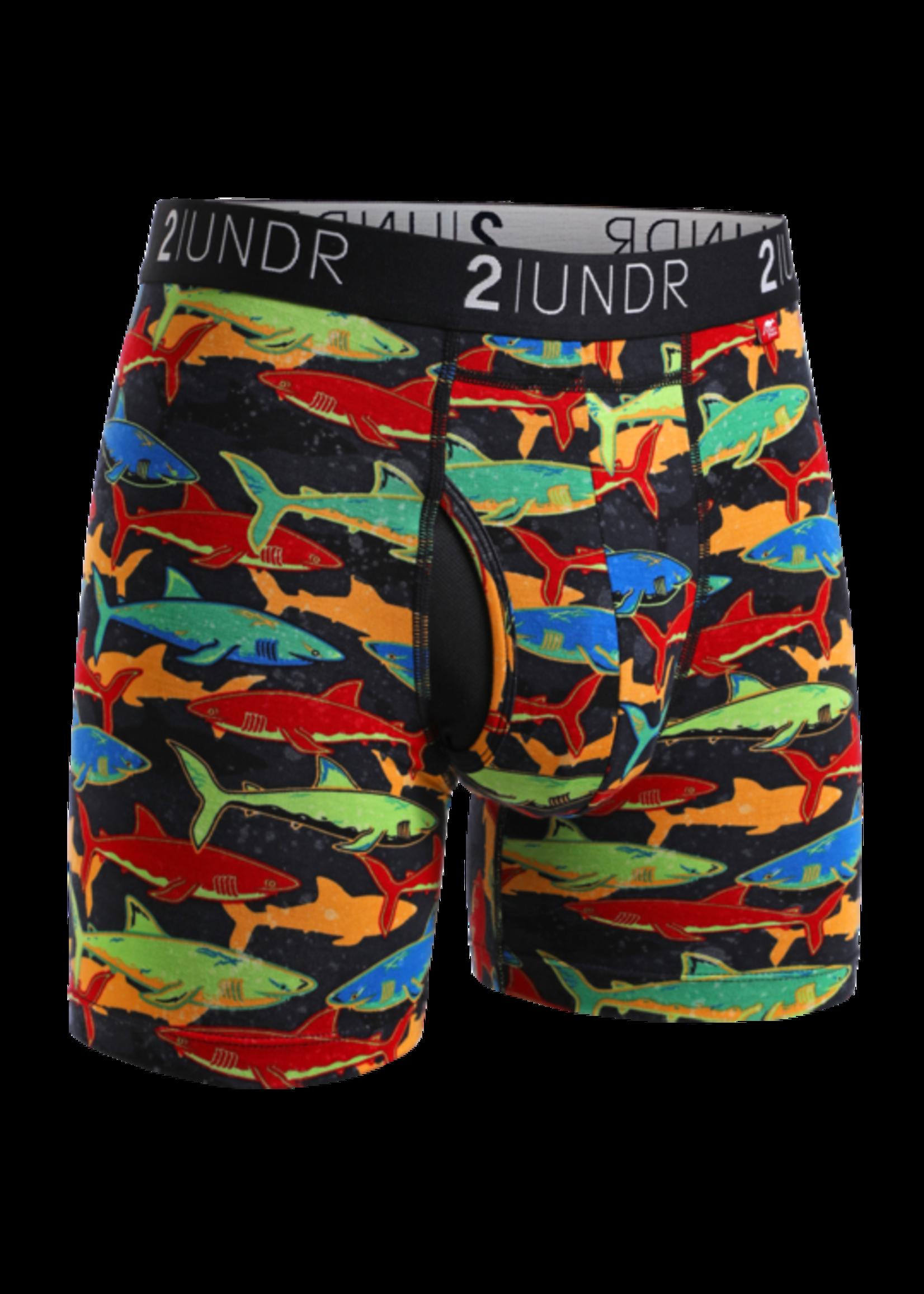 "2UNDR 2UNDR's ""Shark Fest"" Boxer Brief"