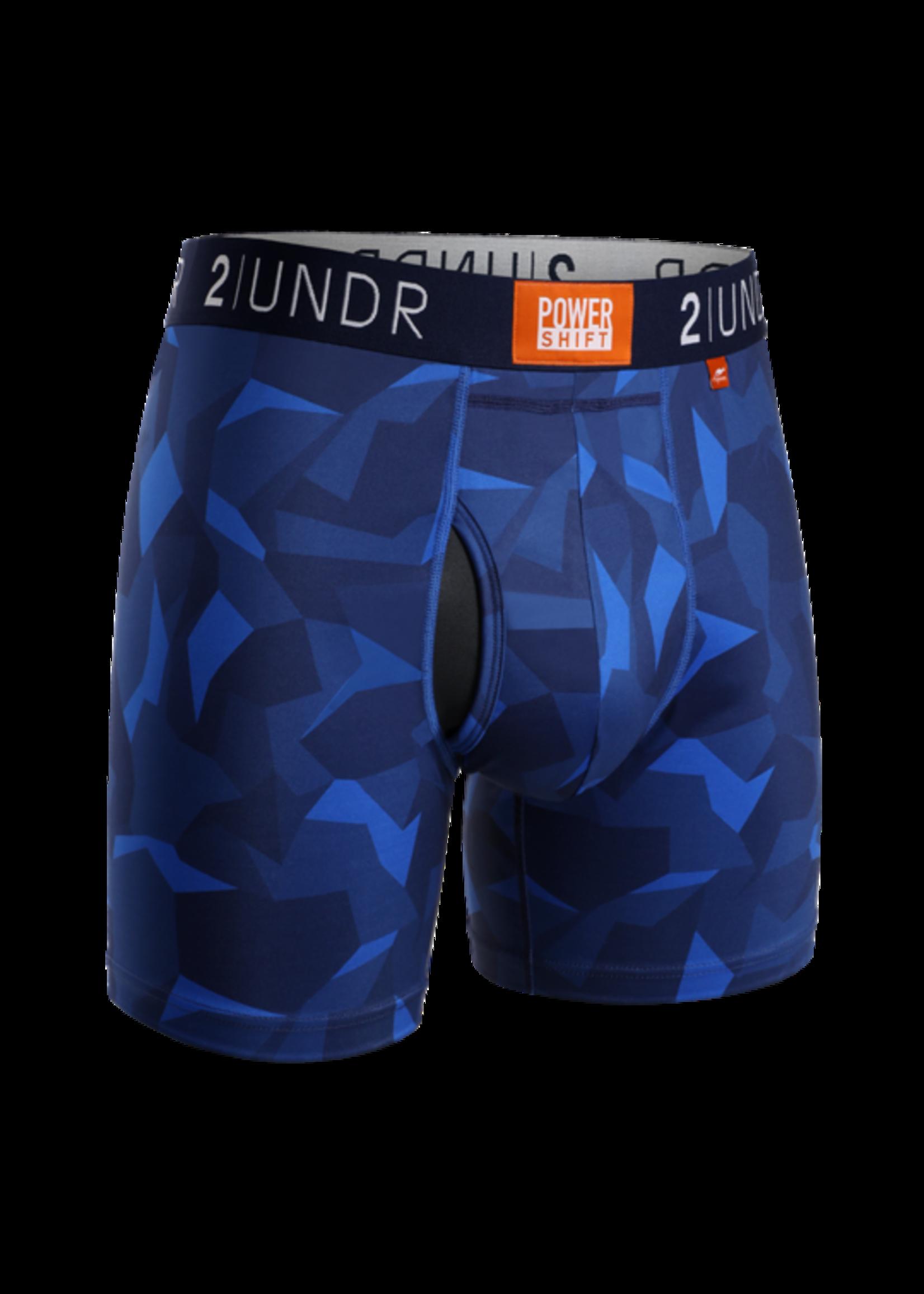 "2UNDR 2UNDR's ""Blue Camo"" Power Shift Boxer Brief"