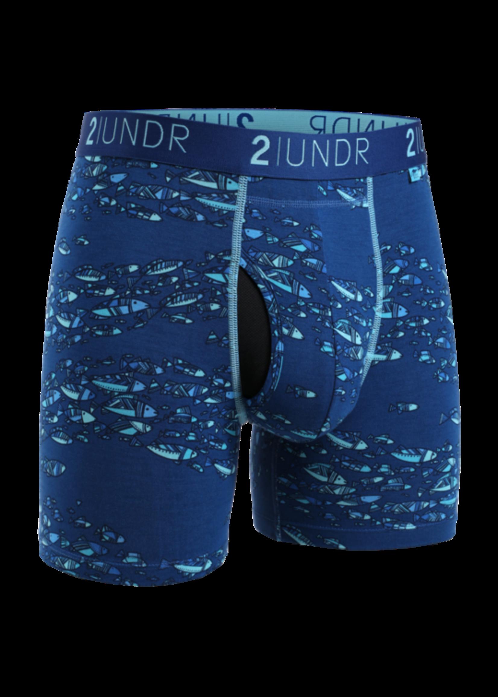 "2UNDR 2UNDR's 2 Pack ""Fish School / Flamingo"" Swing Shift Boxer Brief"
