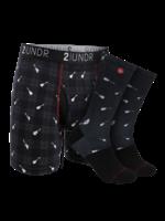 2UNDR 2UNDR - Boxer / Sock Combo - Rockin' Plaid