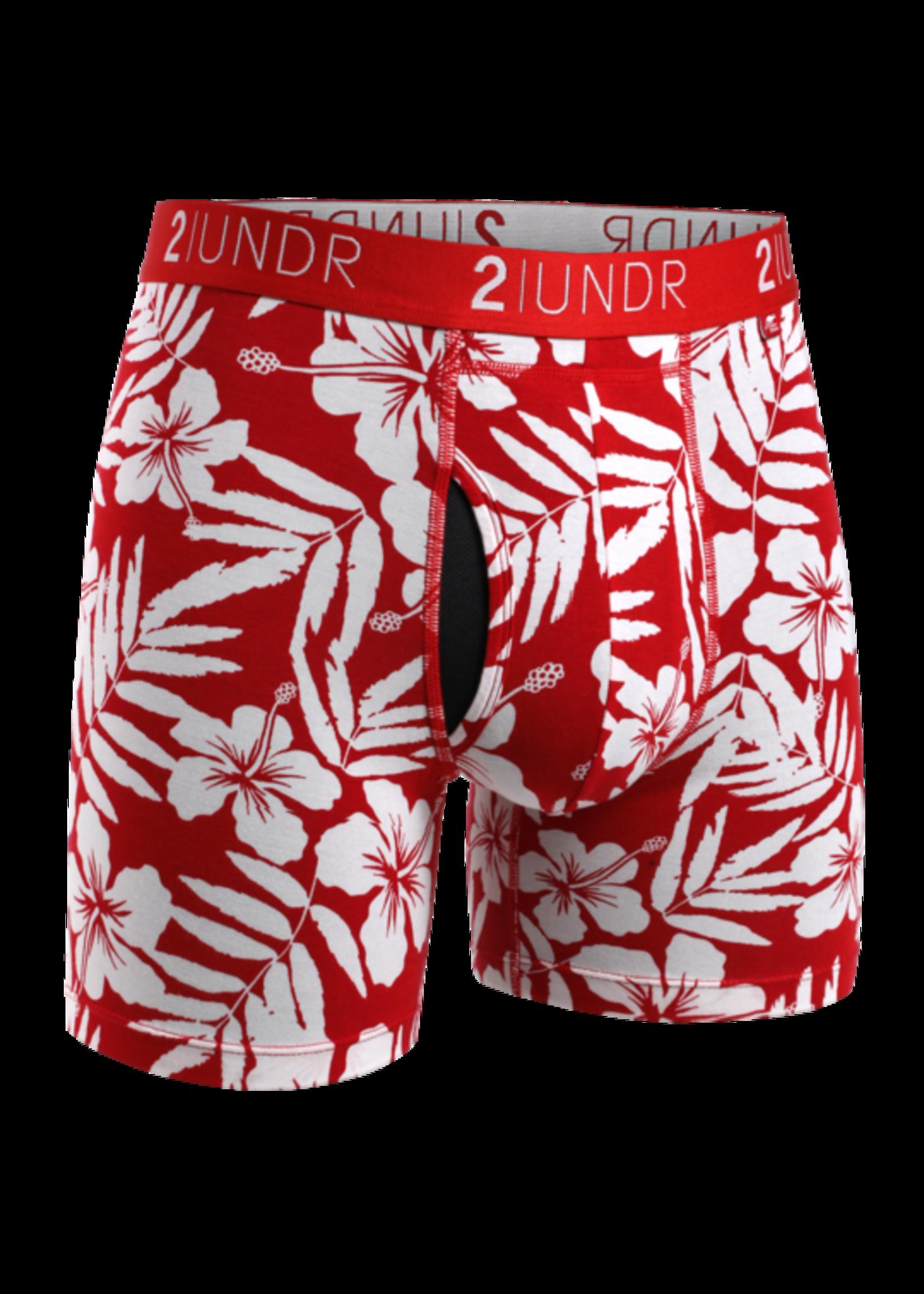 "2UNDR 2UNDR's ""Aloha / Mahalo"" Swing Shift Boxer Brief Two Pack"