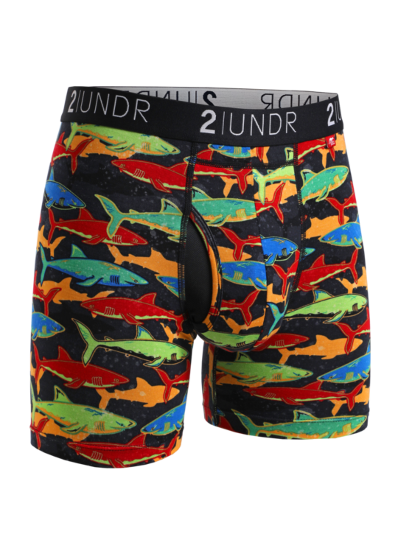 """2UNDR 2UNDR 's """"Coral / Shark"""" Swing Shift Boxer Brief Two Pack"""