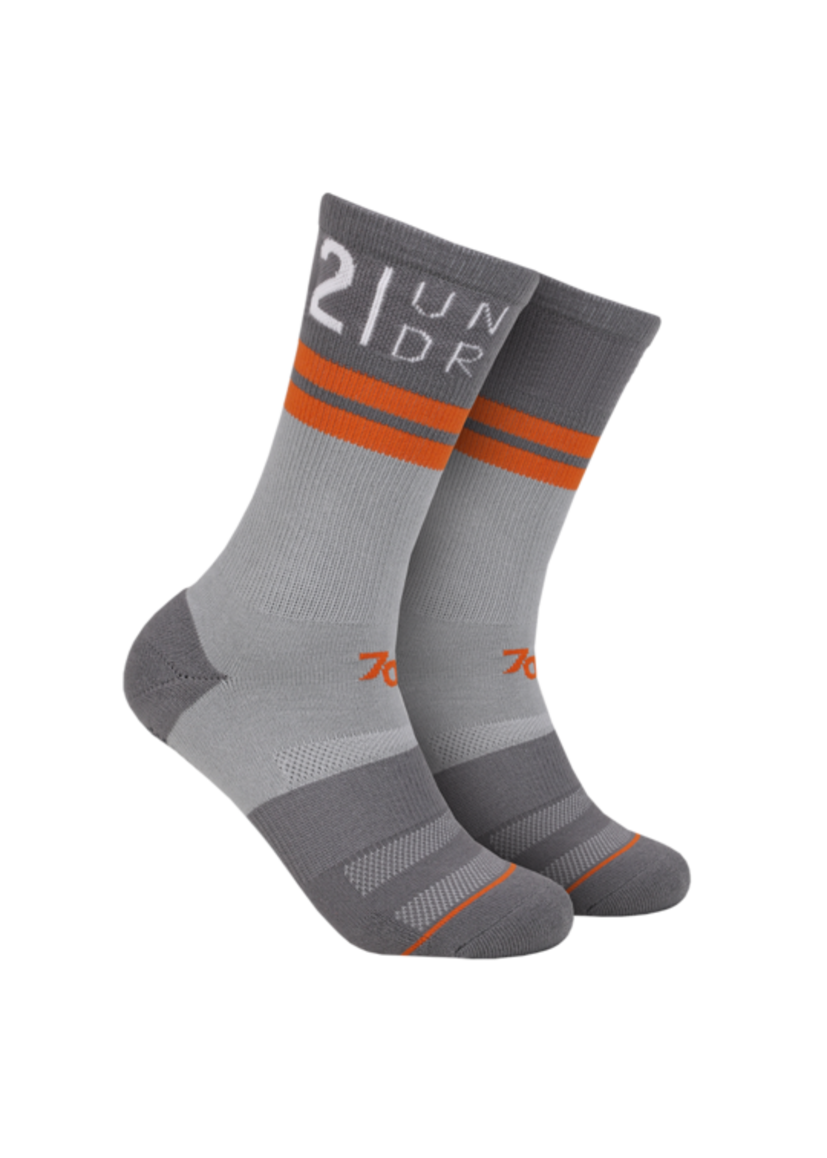 "2UNDR 2UNDR's ""Grey / Grey"" 70 Crew Sock"