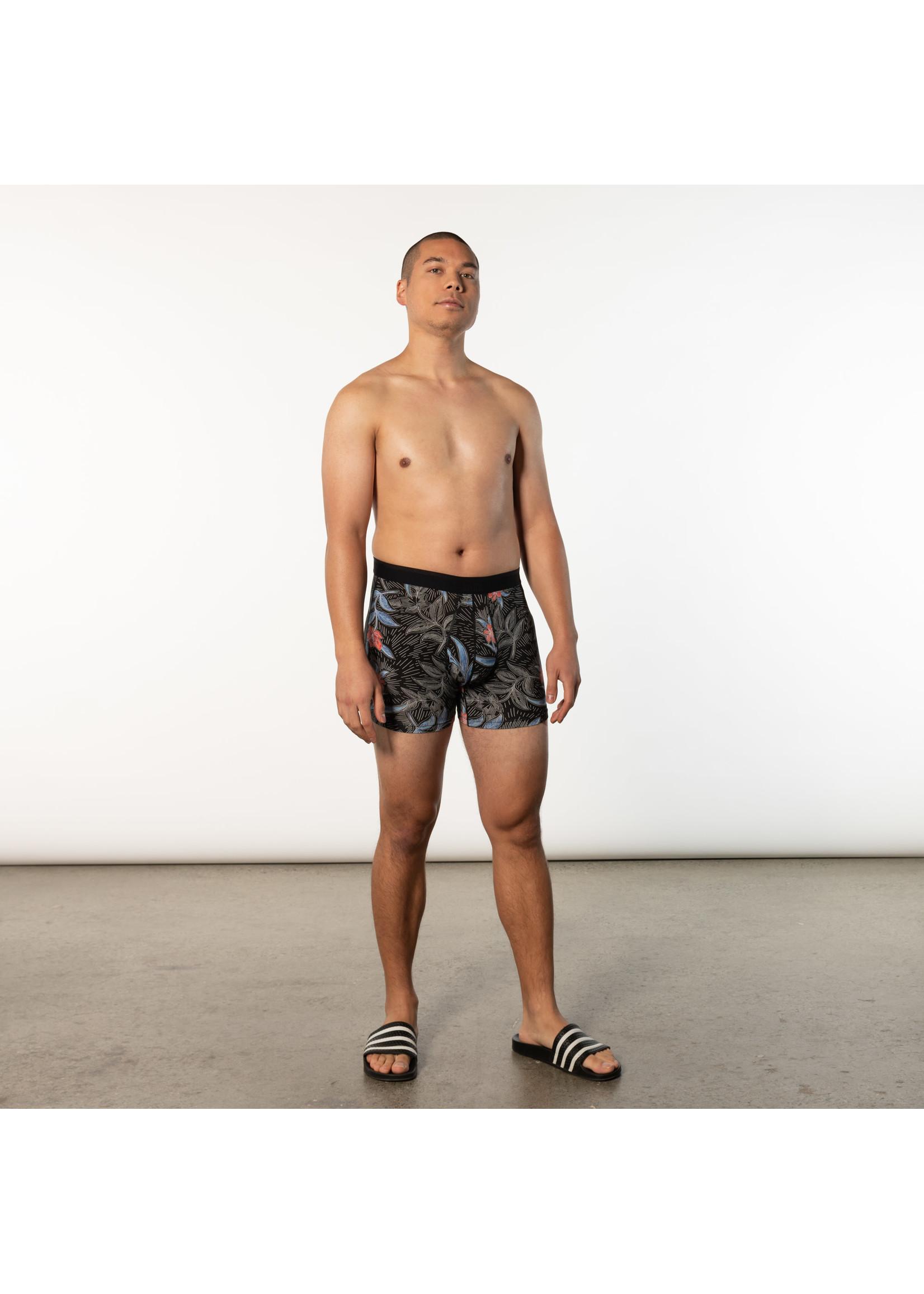 "SAXX SAXX's ""Black Vine Batik"" Platinum Boxer Brief"
