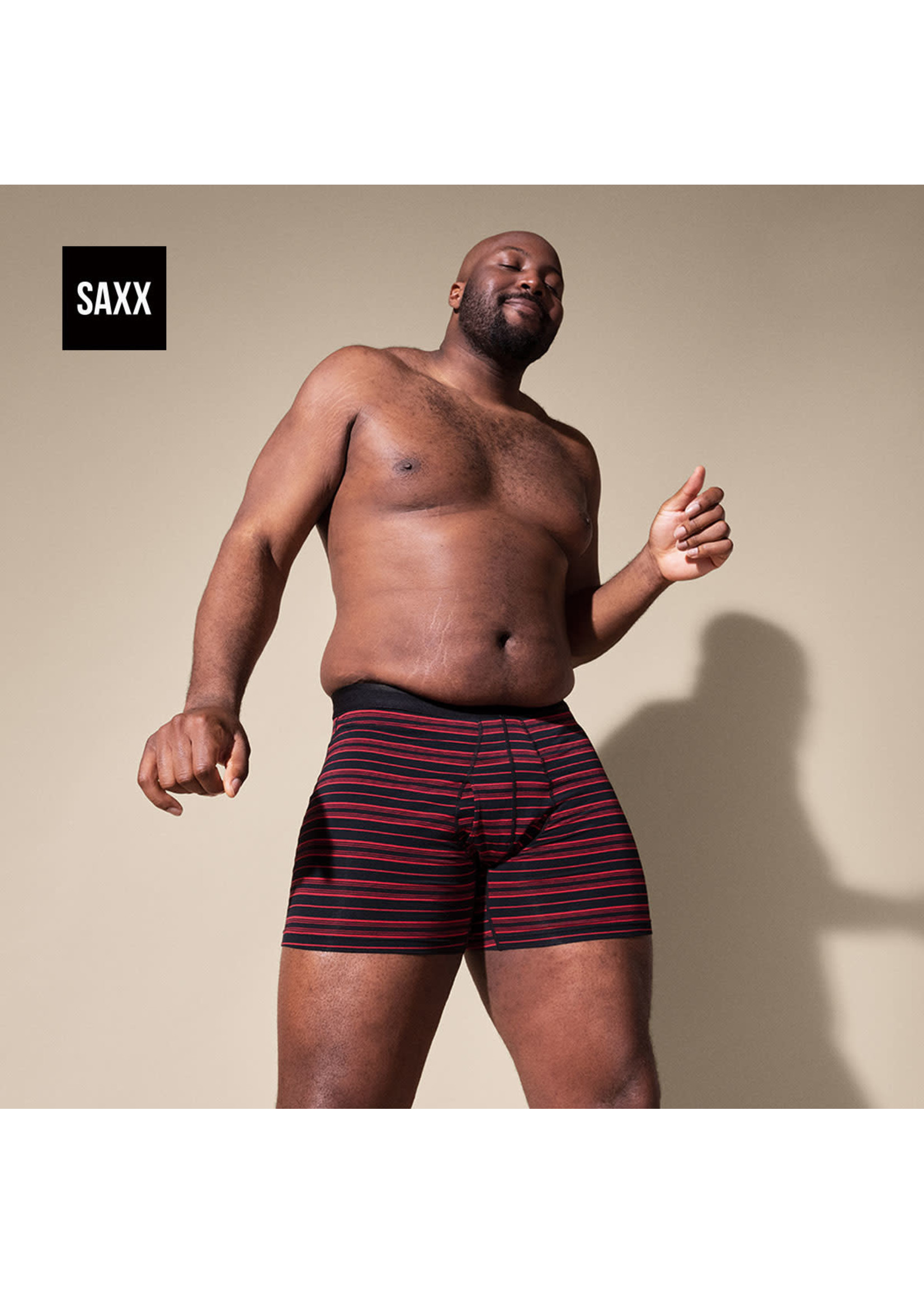 """SAXX SAXX's """"Black / Red Tidal"""" Platinum Boxer Brief"""