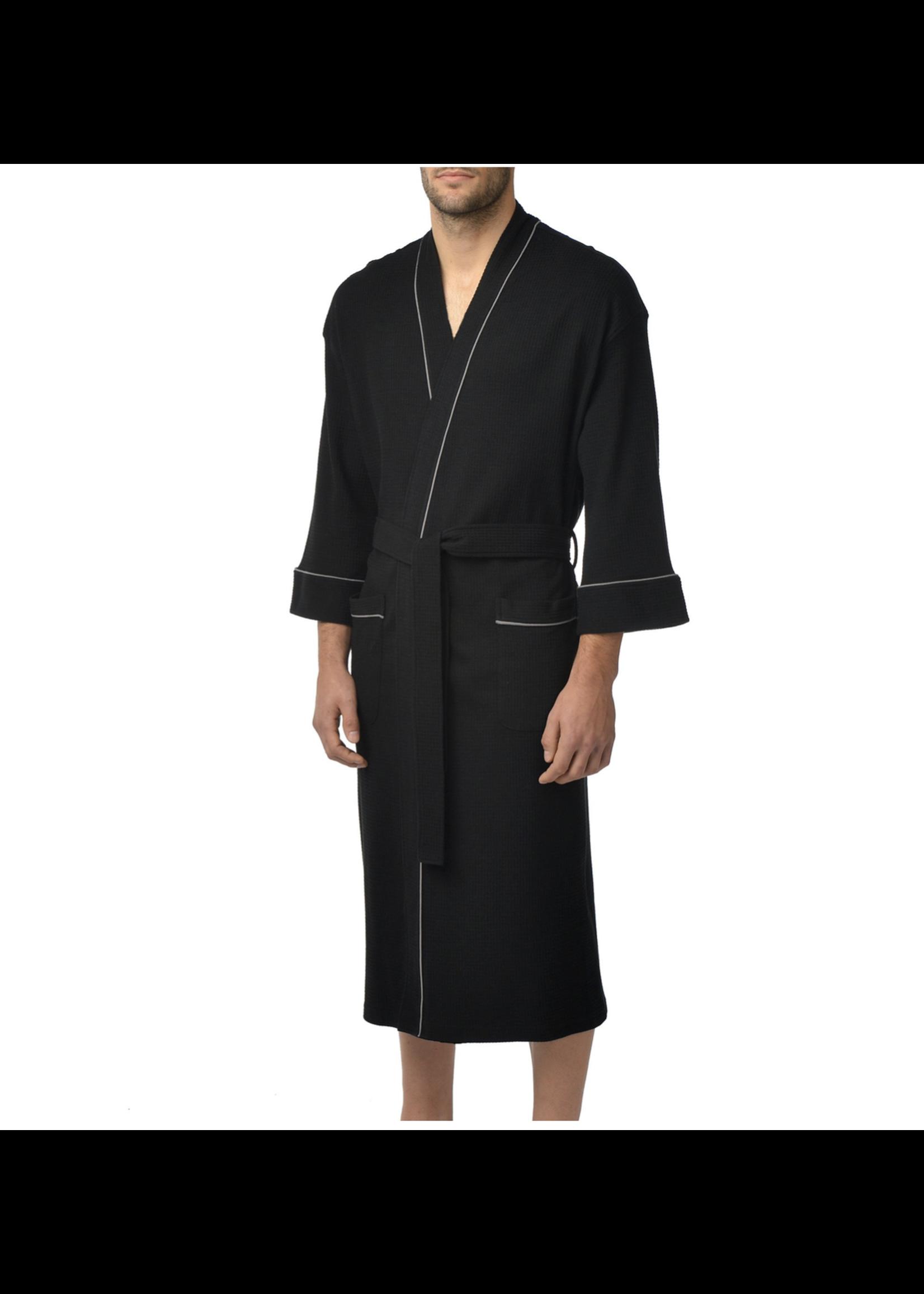 """Majestic International The """"Knit Waffle"""" Kimono Robe"""