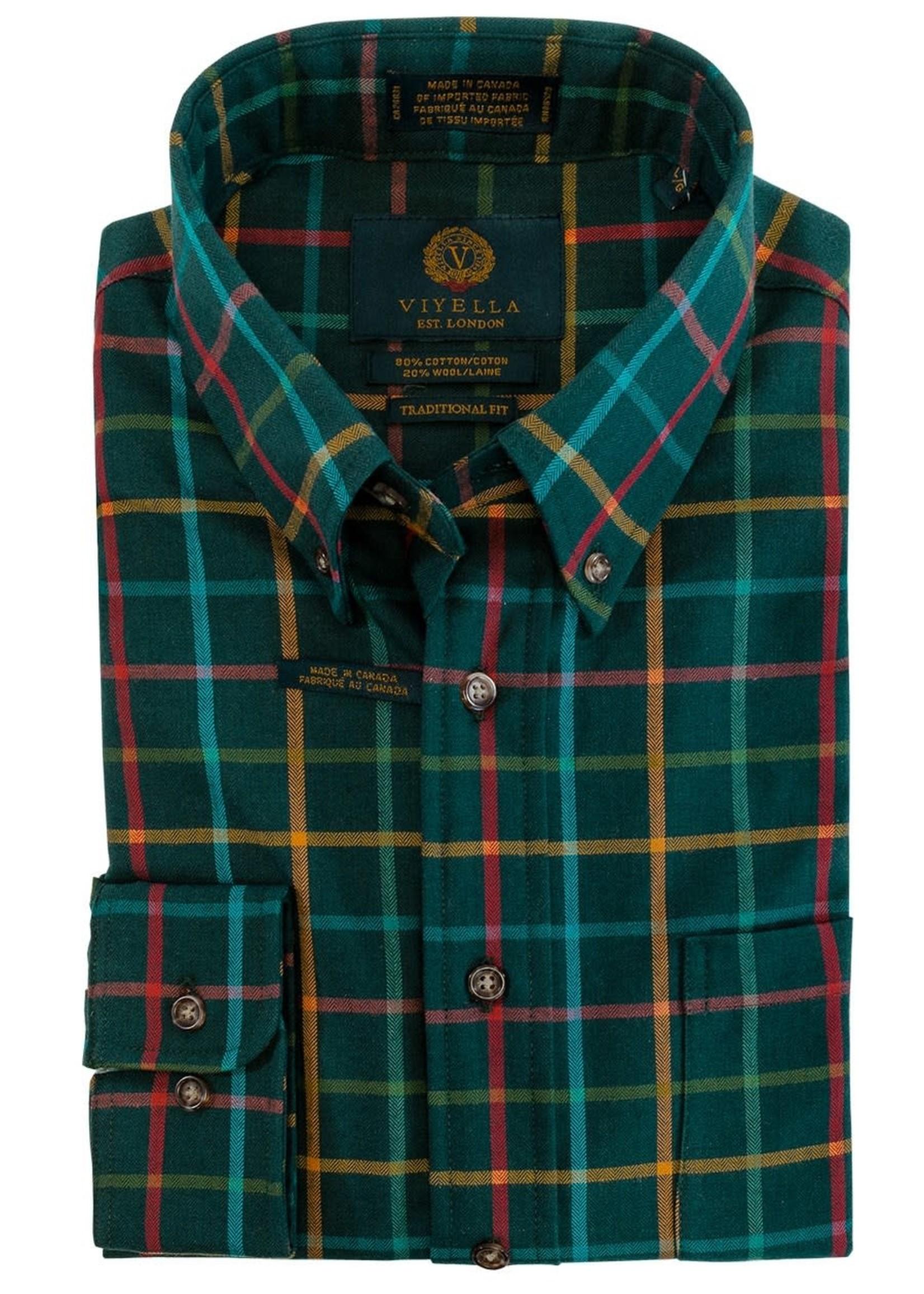 "Viyella Viyella -  ""Green Gable"" 80 20 Traditional Fit Button-Down Collar Sport Shirt"