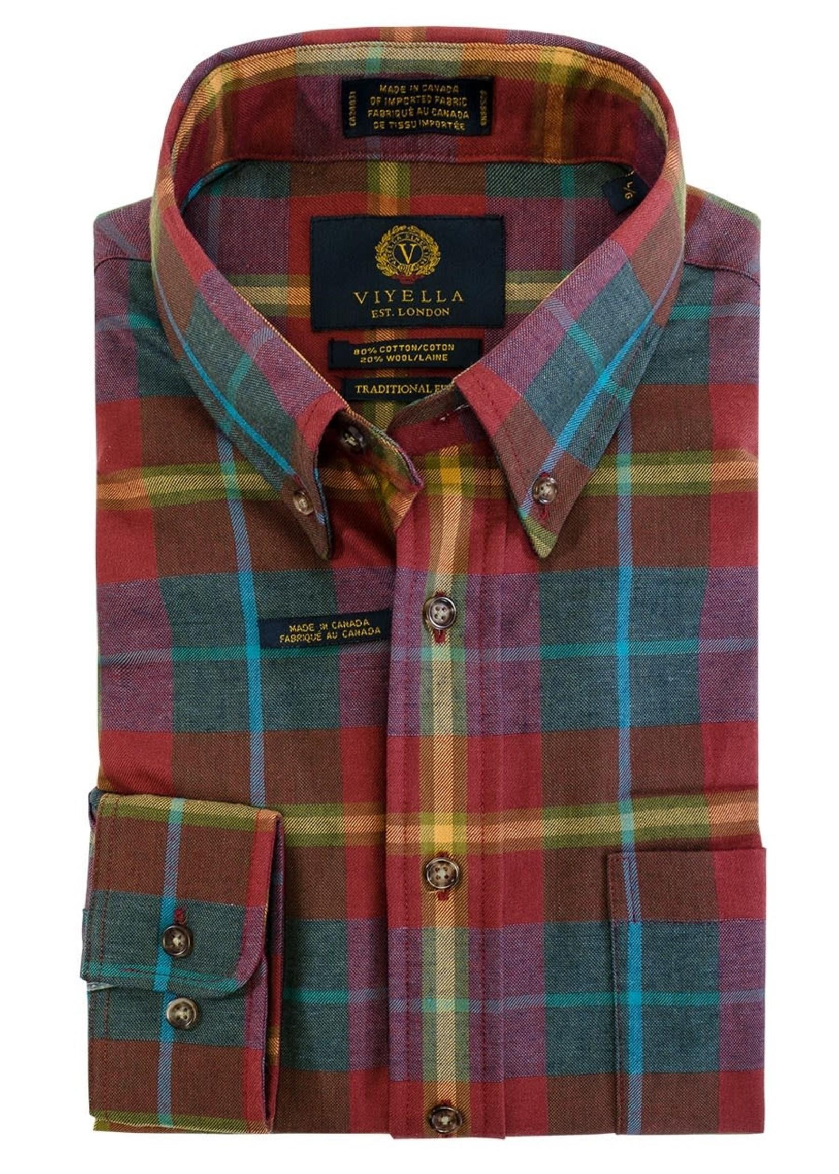 "Viyella Viyella - ""Fall""  80 20 Traditional Fit Button-Down Collar Sport Shirt"
