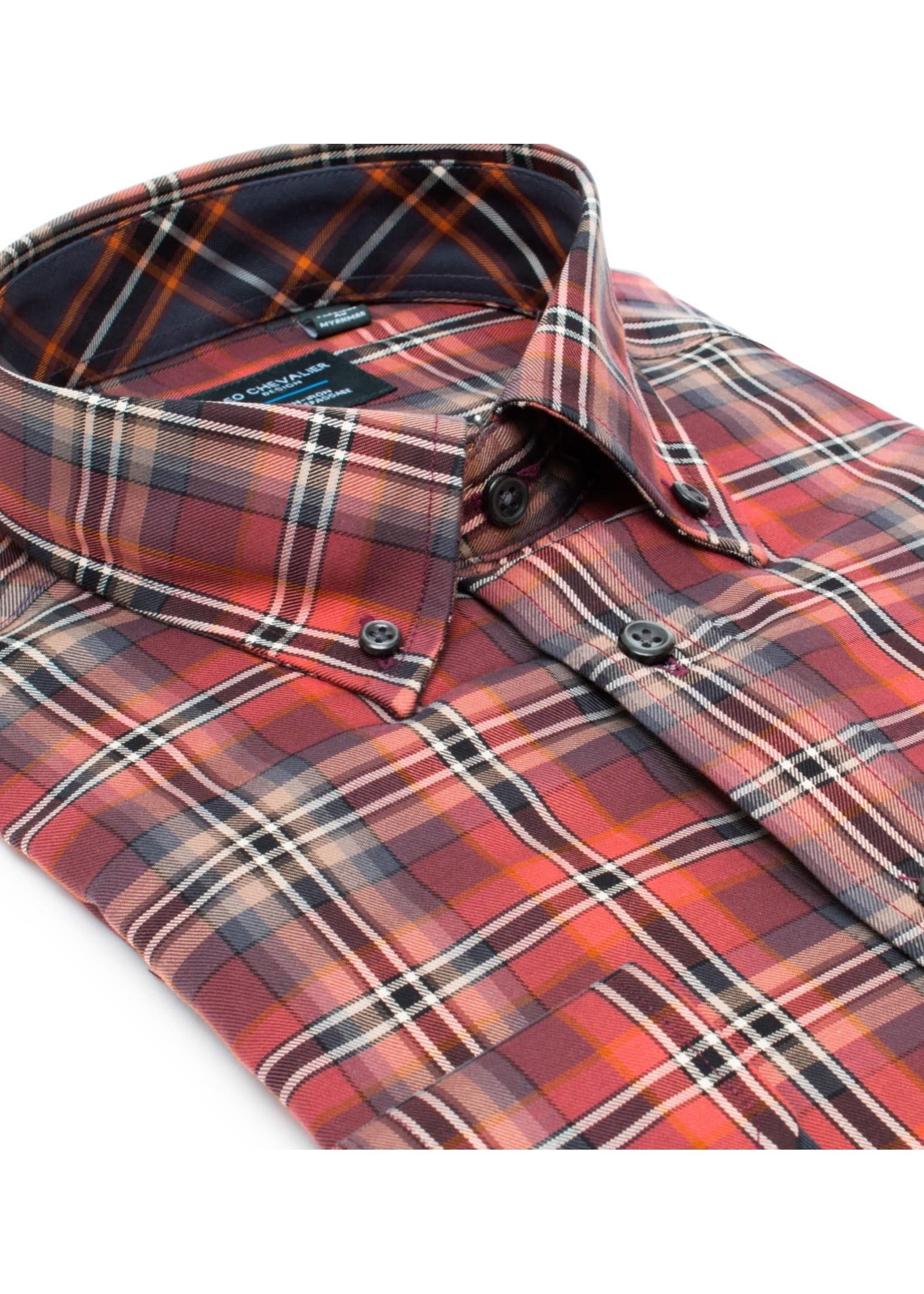 Leo Chevalier Leo Chevalier - Men's L/S 100% Cotton Non Iron Button Down Collar