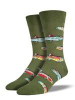 Socksmith Canada Inc Socksmith Canada - Graphic Cotton Crew - Trout (Green)