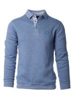 Ethnic Blue Ethnic Blue - Long Sleeve Polo (Blue Grey)