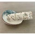 Pick Nicki Picki Nicki - White Sage Stick with Ceramic Abalone Dish in a Gift Box