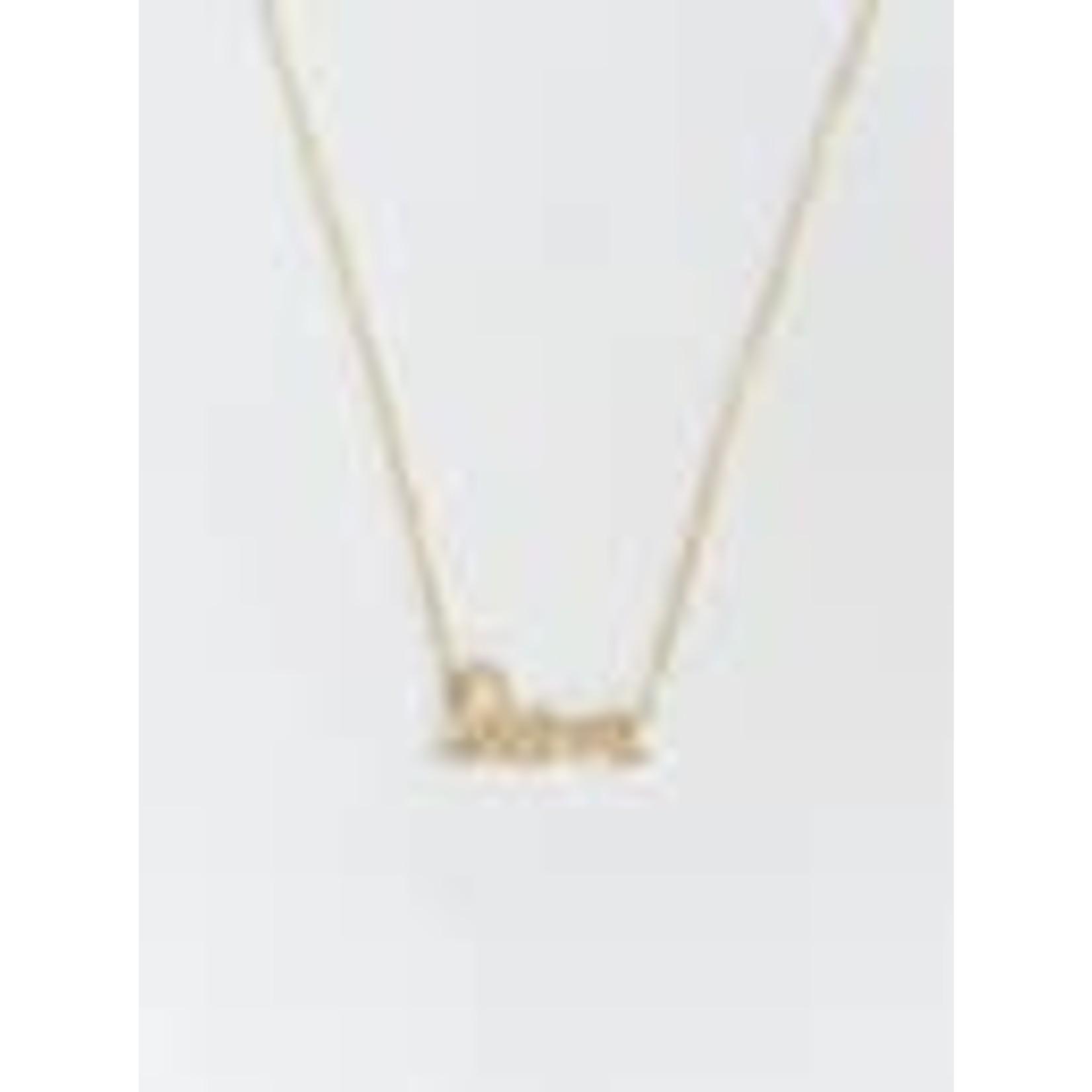 Felix Z Designs 16''+2'' 925 Silver /gold LOVE CZ Necklace