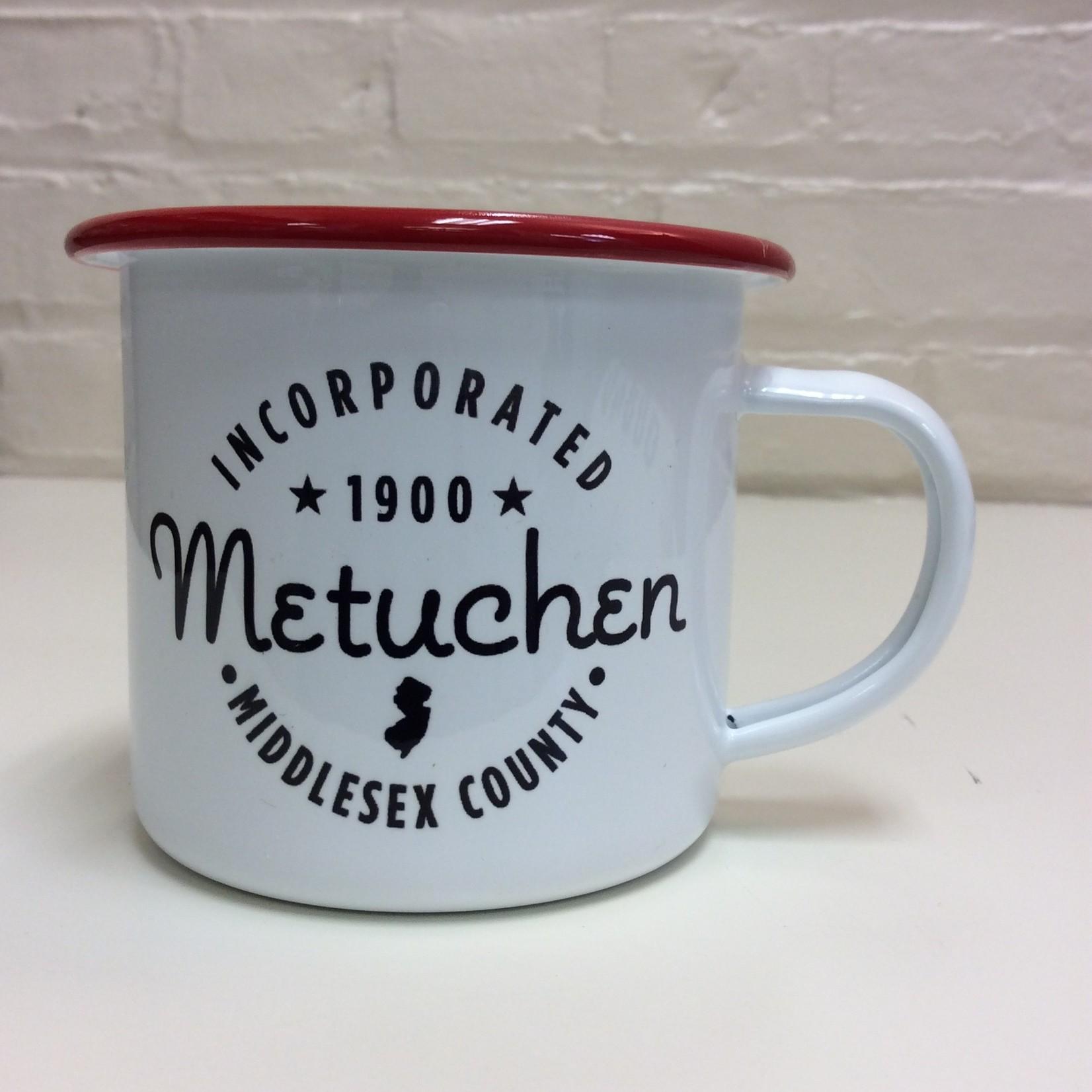 B.Berish Incorporated in Metuchen enamel Camper 13oz. Mug