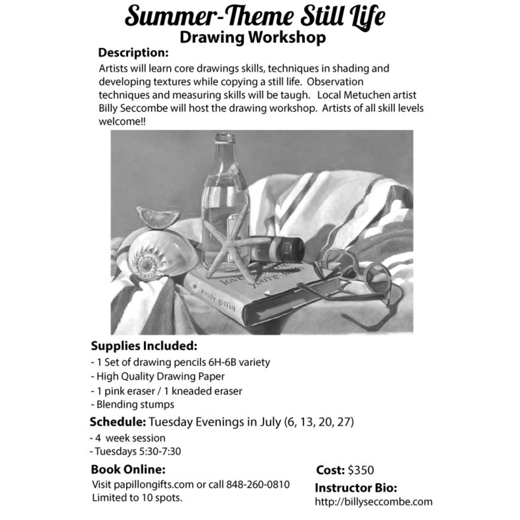 Summer Theme Still Life Art Class Billy Seccombe