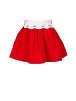 Proper Peony Tinsel Red Skirt