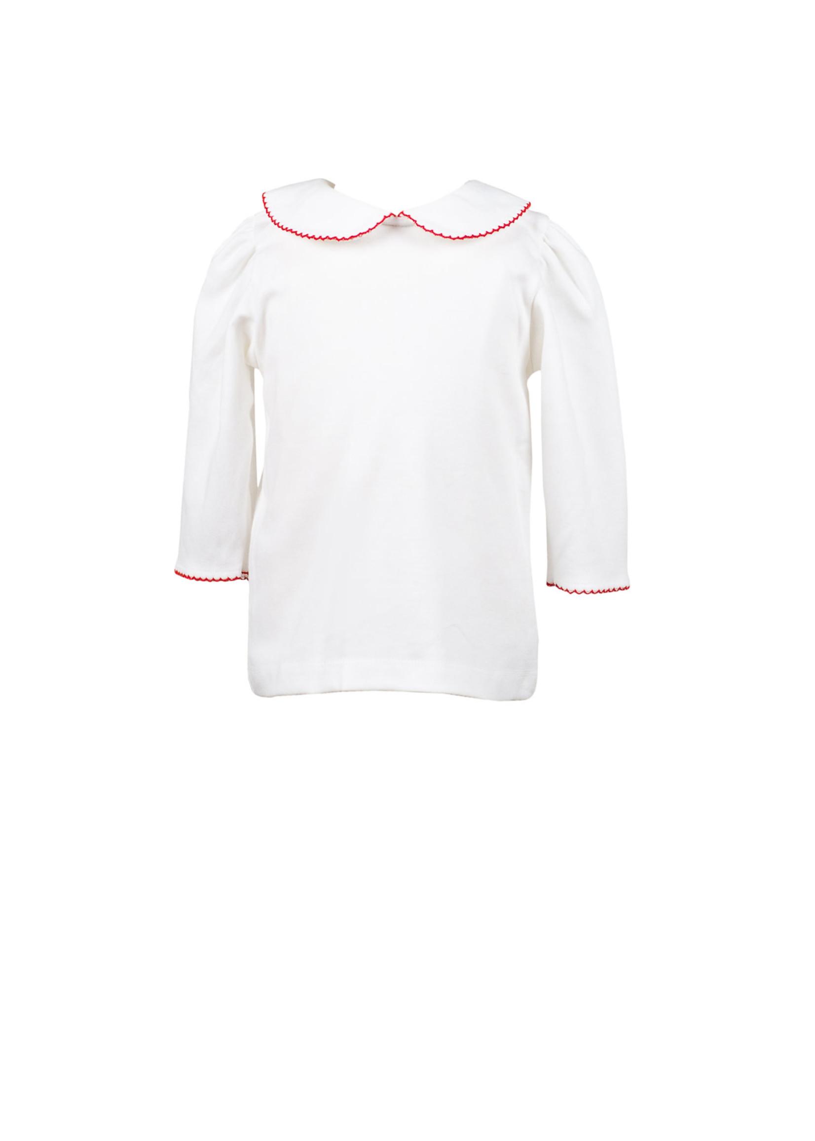 Proper Peony White Knit 3/4 Shirt w/ Trim