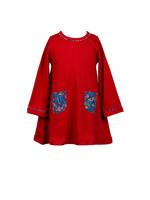 Proper Peony Winter Berry A Line Dress