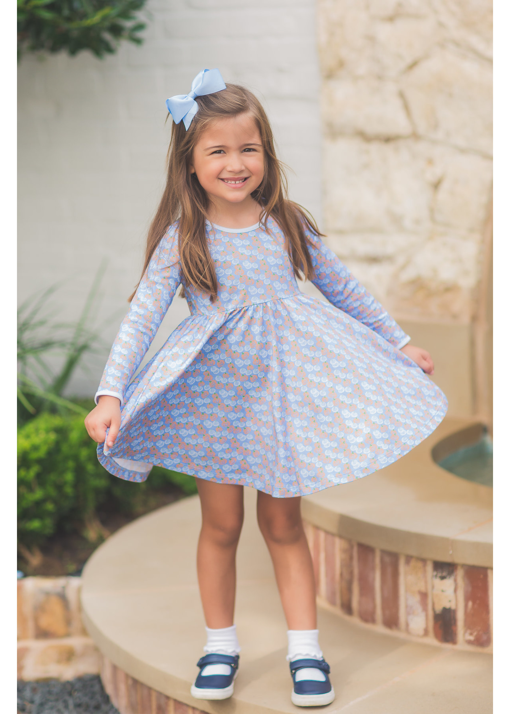 Proper Peony Pumpkin Patch Twirl Dress