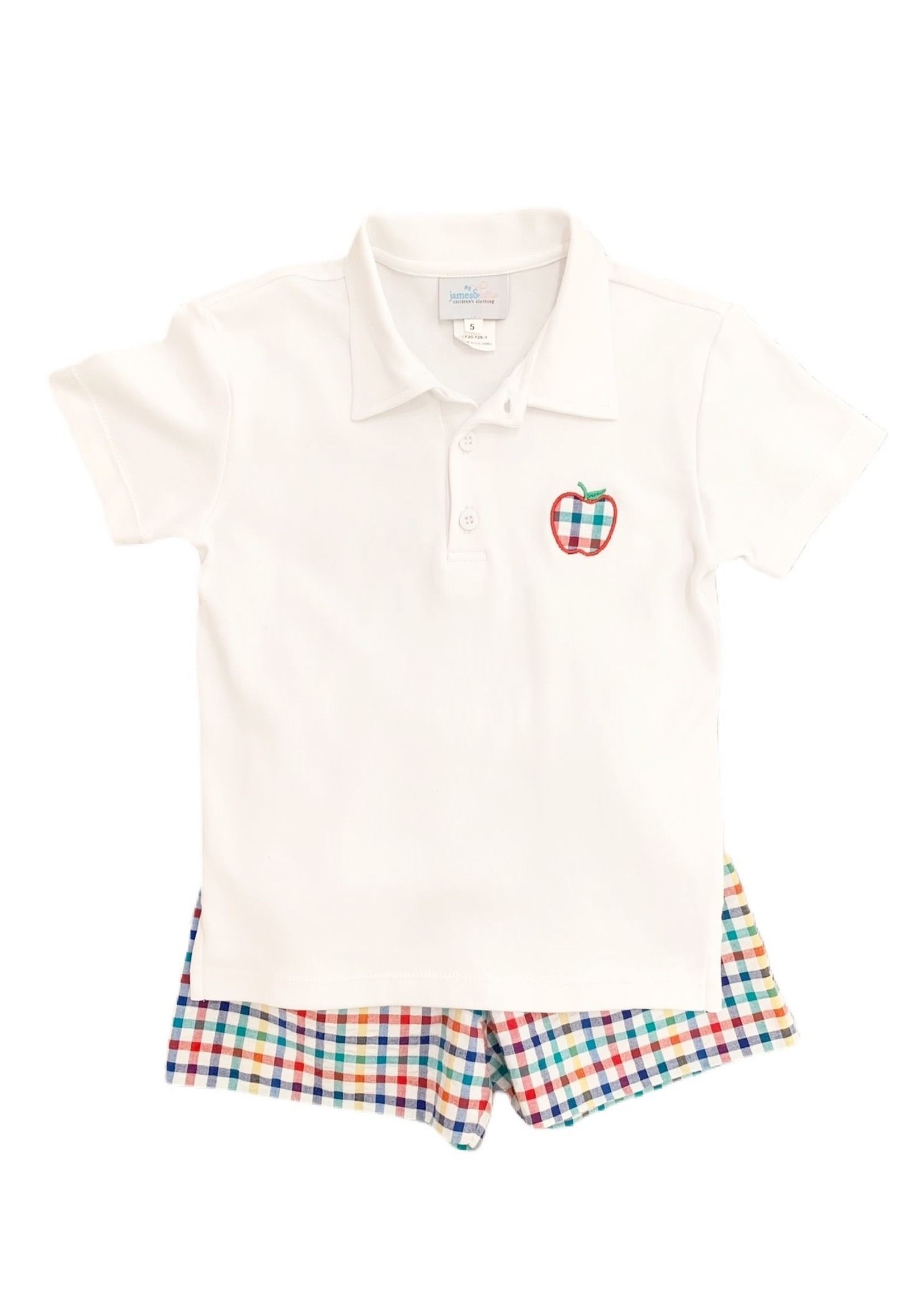james and lottie White Polo Apple