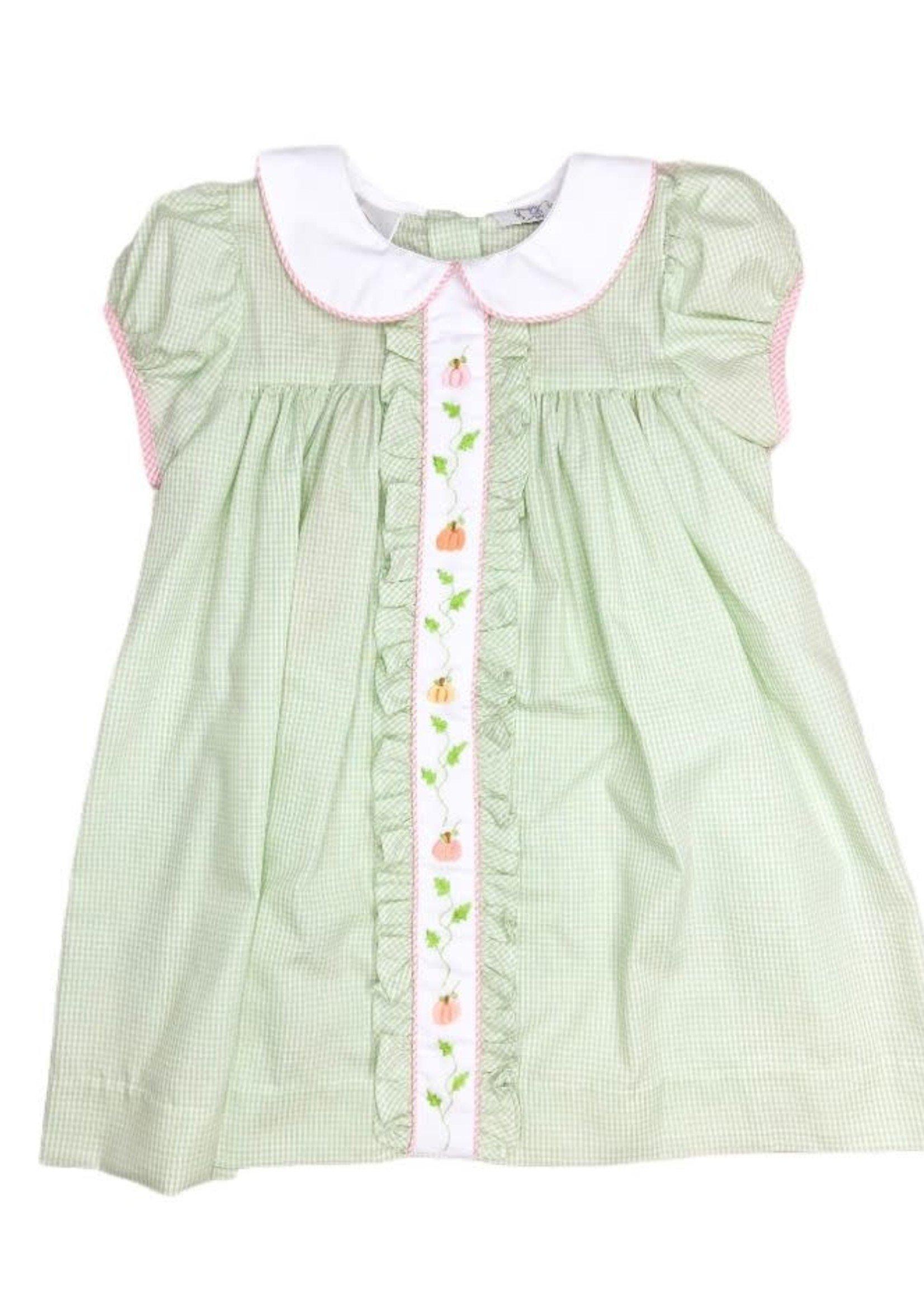 Lulu Bebe Molly Pumpkin Pleat Dress