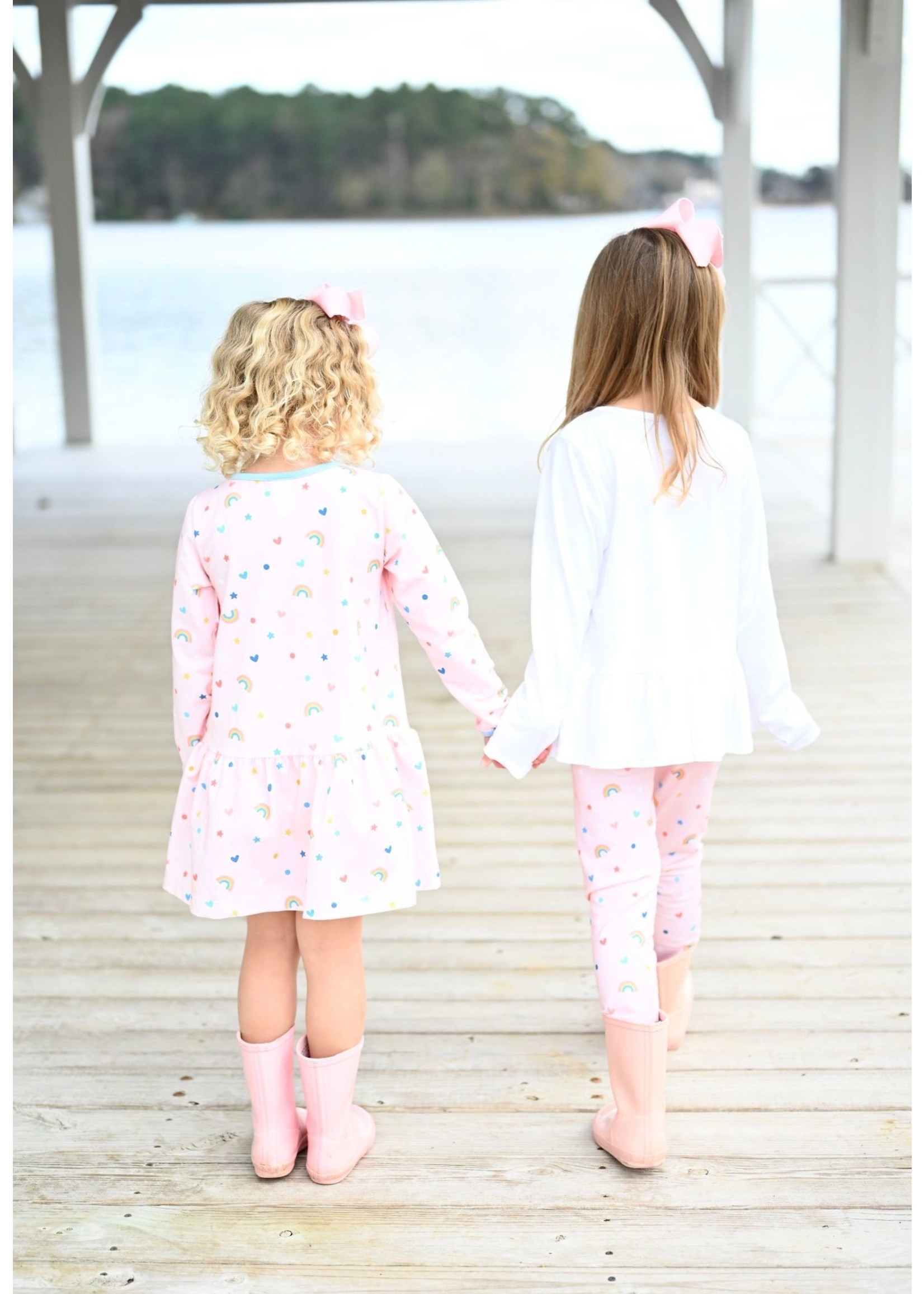 james and lottie Rosie Rainbow Legging Set