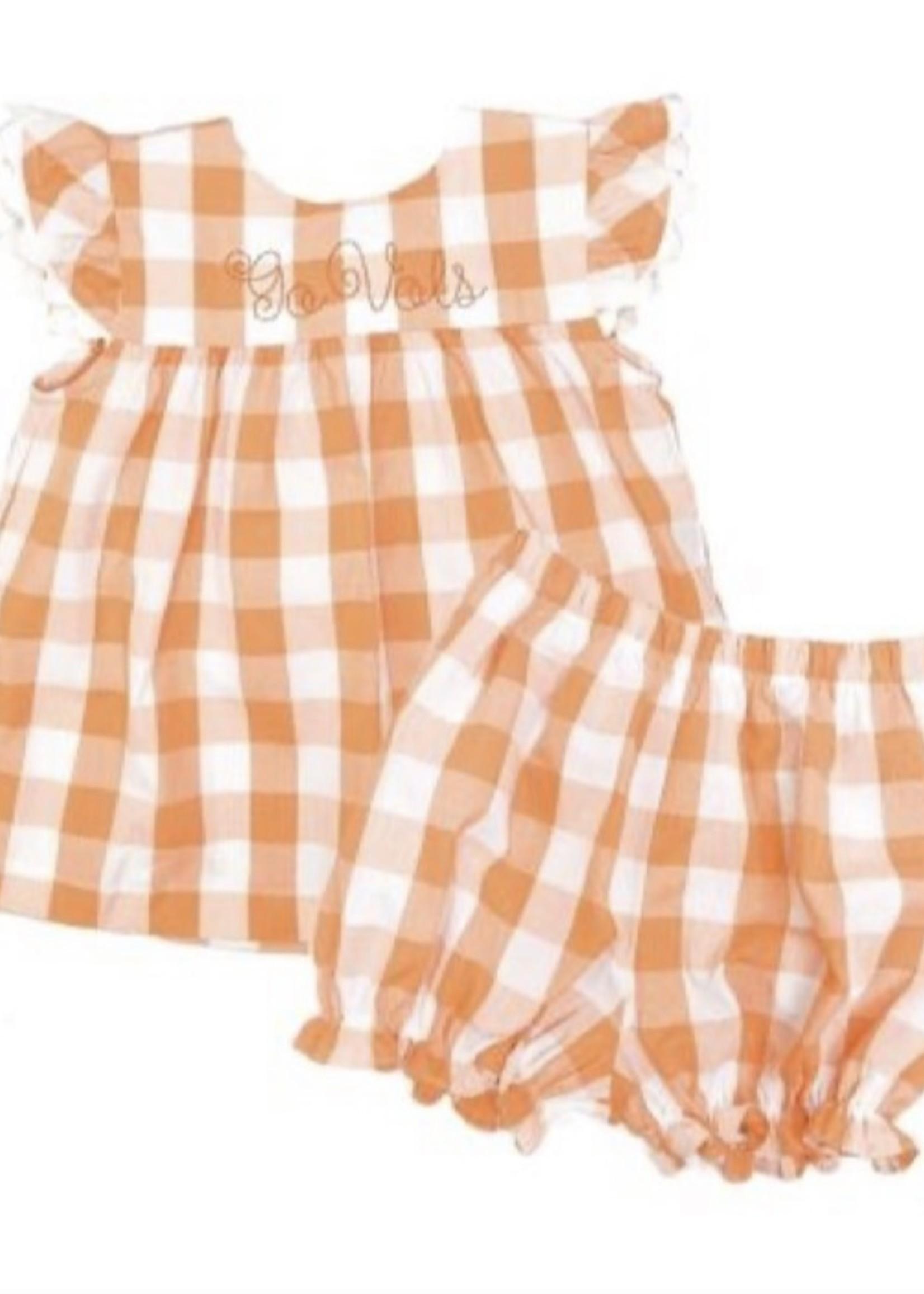 james and lottie Orange Mary Bloomer Set
