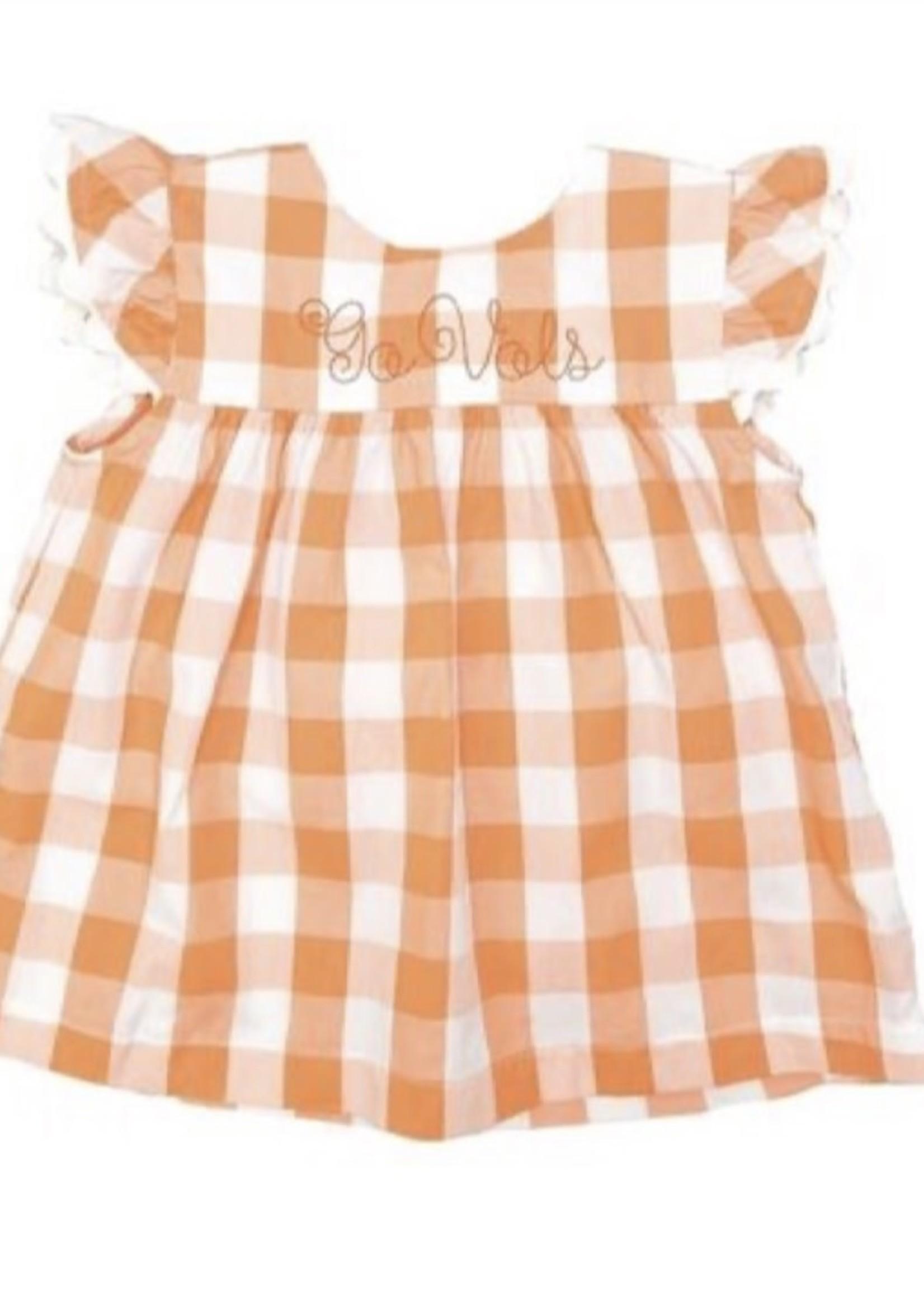 james and lottie Orange Mary Dress