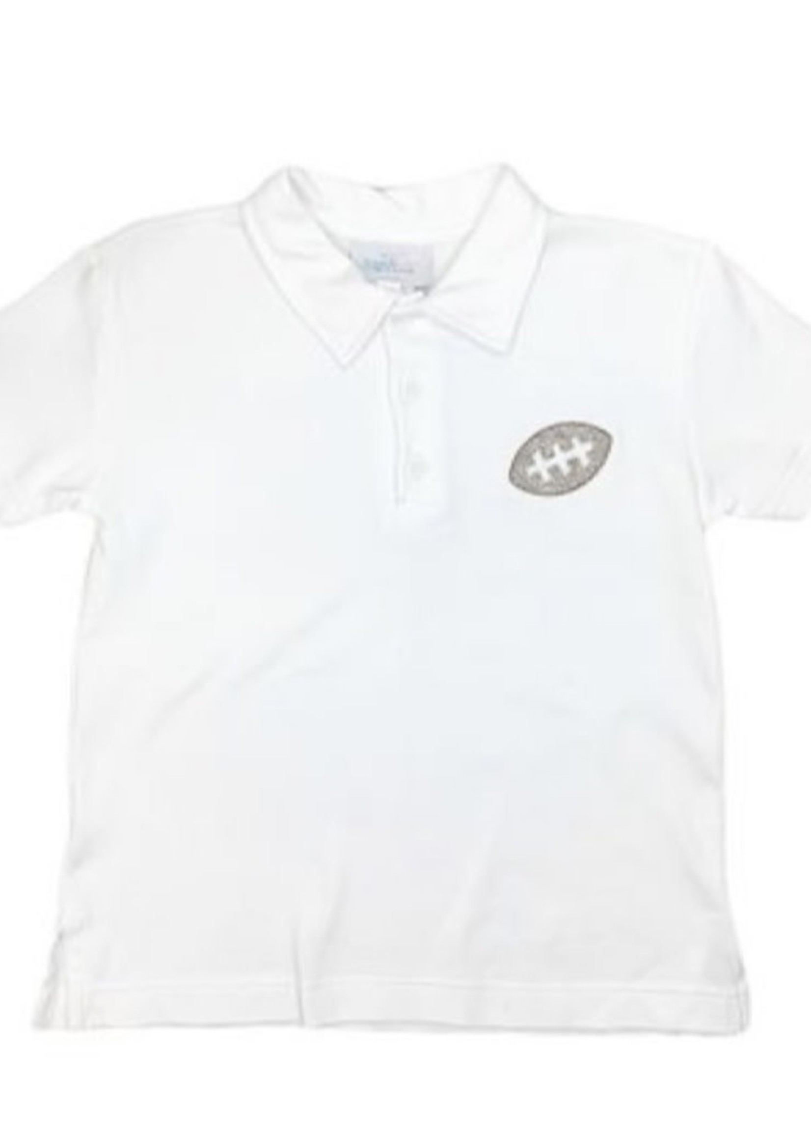 james and lottie White Polo with Football