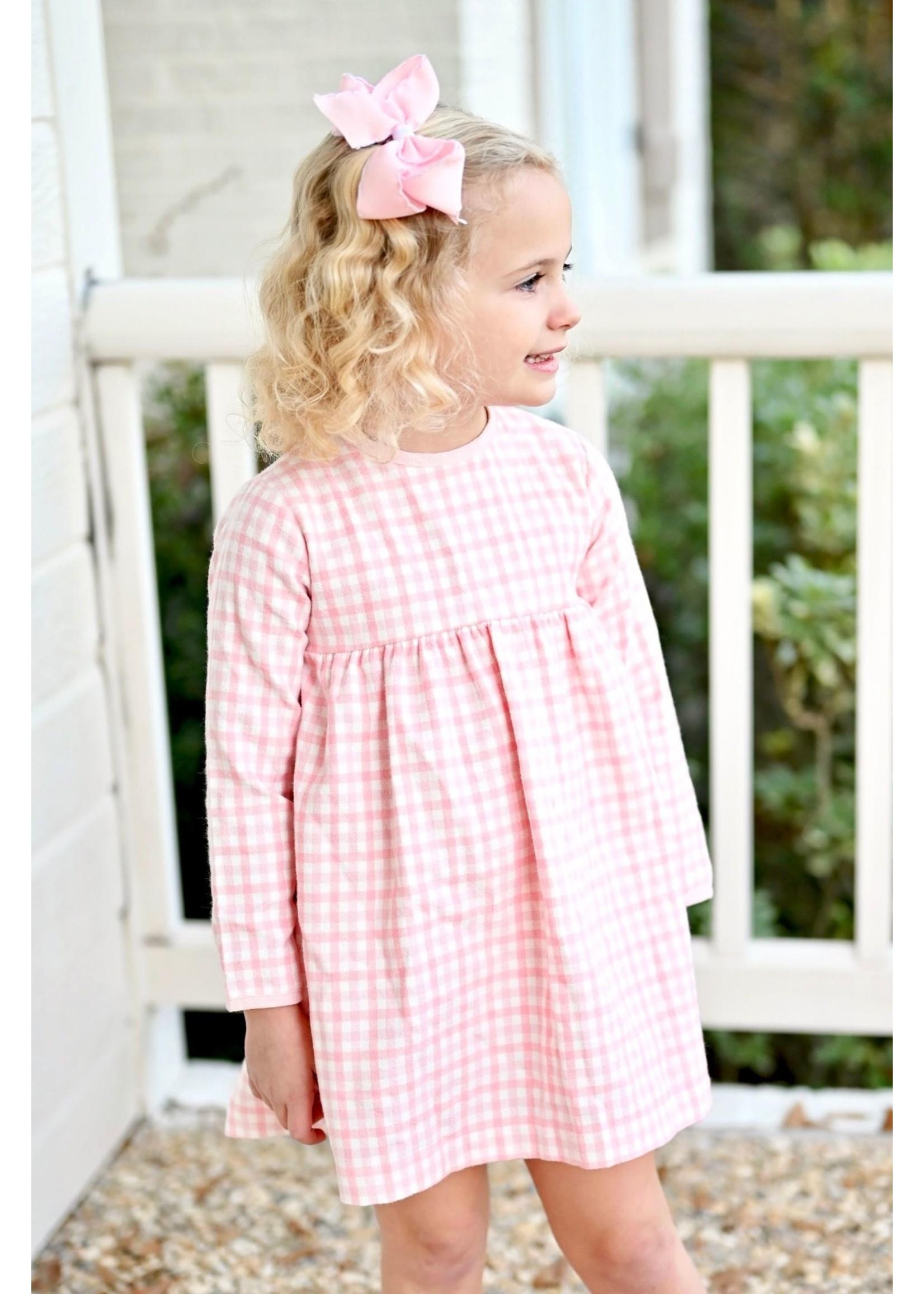 james and lottie Plaid Greta Little Girl Dress