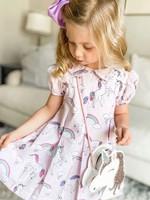 james and lottie Unicorn Penny Pleat Dress