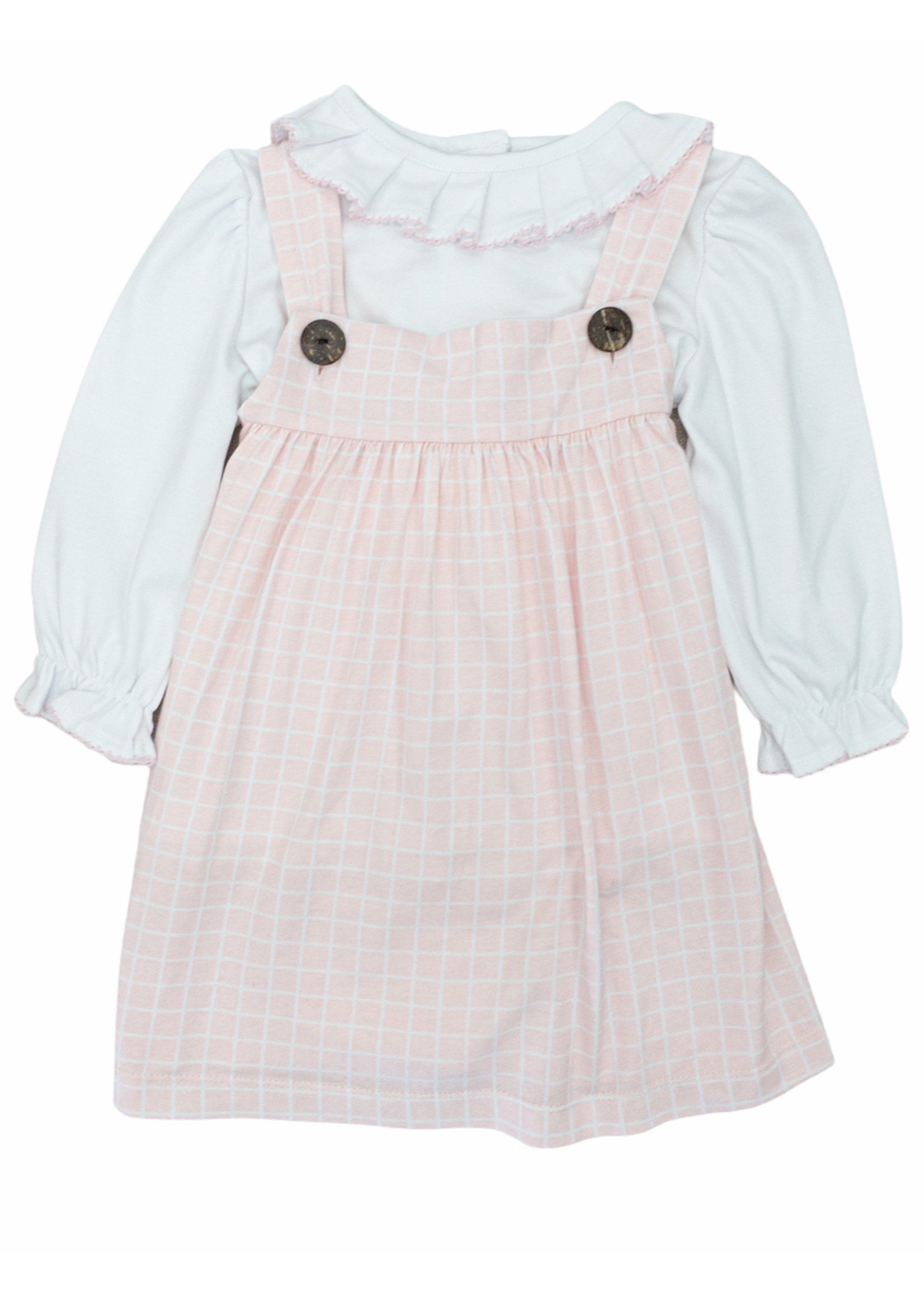 True Pleated Collar Dress set