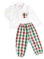 james and lottie Christmas Plaid Carter Pant Set