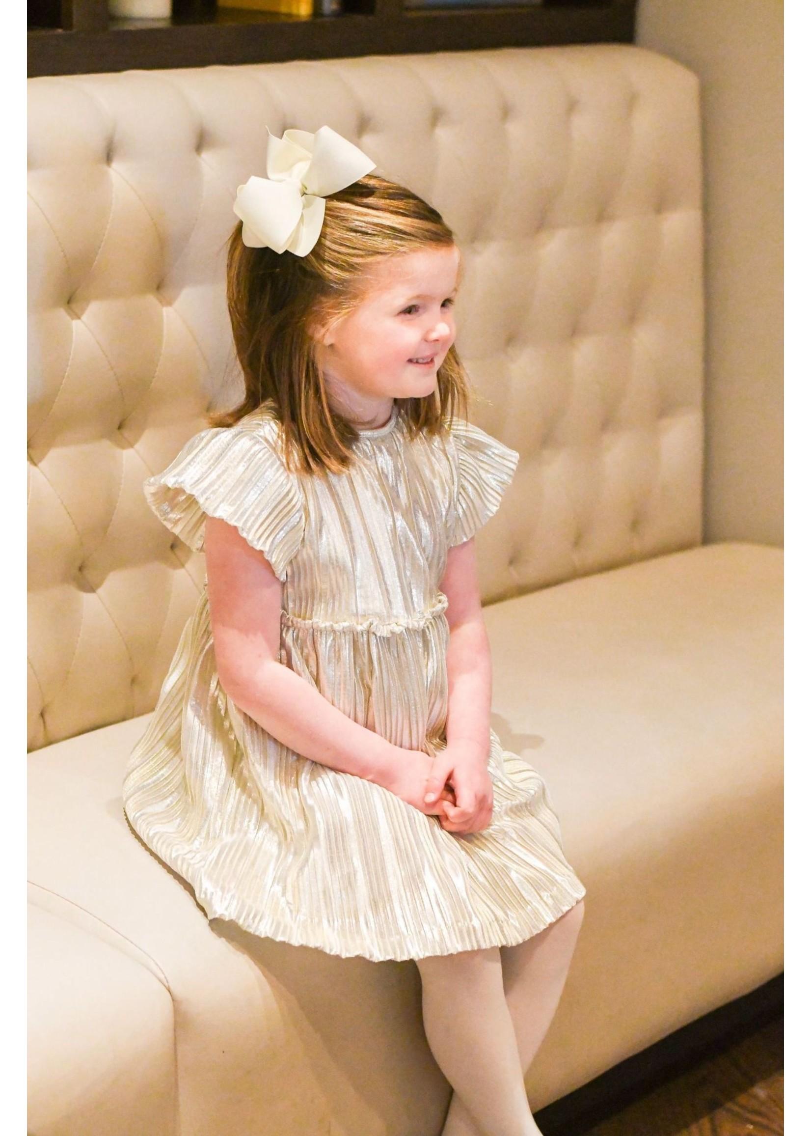 james and lottie Gigi Gold Dress
