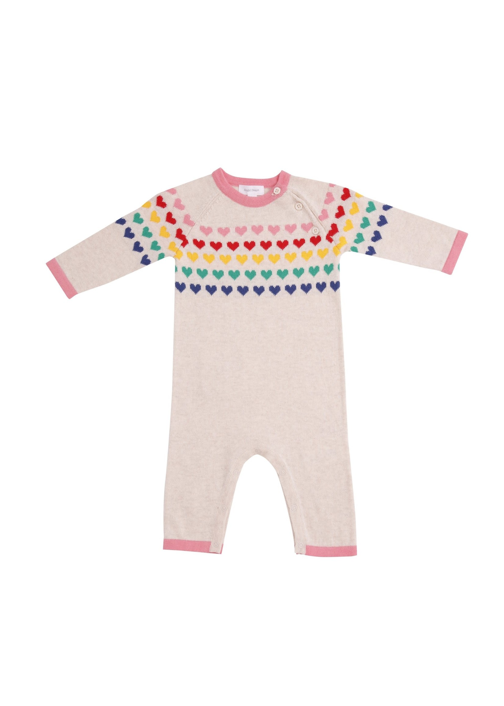Angel Dear Hearts Coverall Ivory