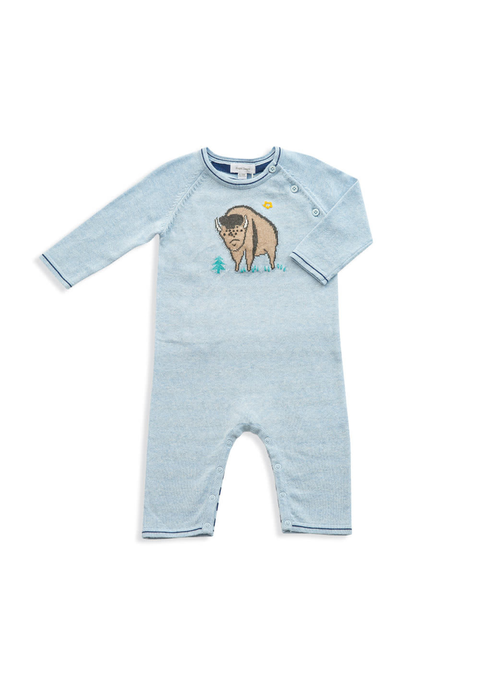 Angel Dear Western Wilderness Knits Bison Coverall