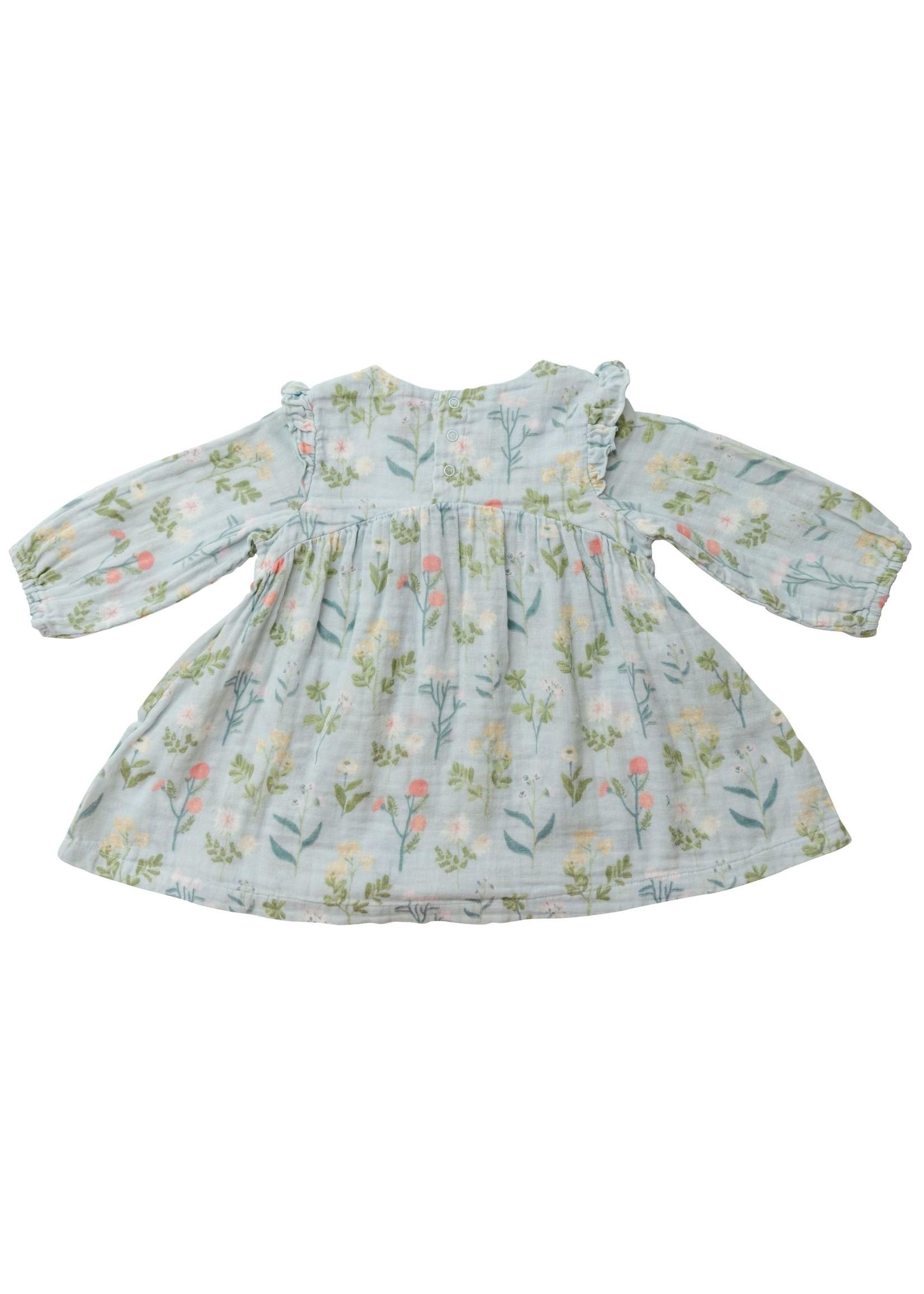 Angel Dear Meadow Floral Ruffle Dress & Legging
