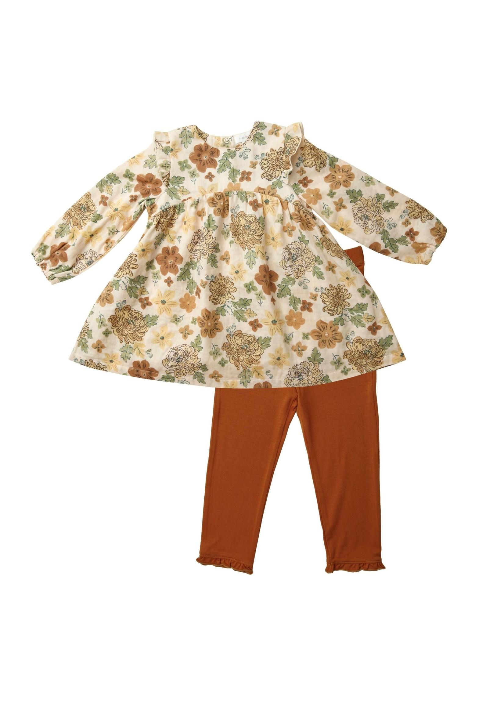 Angel Dear Chrysanthemum Ruffle Dress & Legging