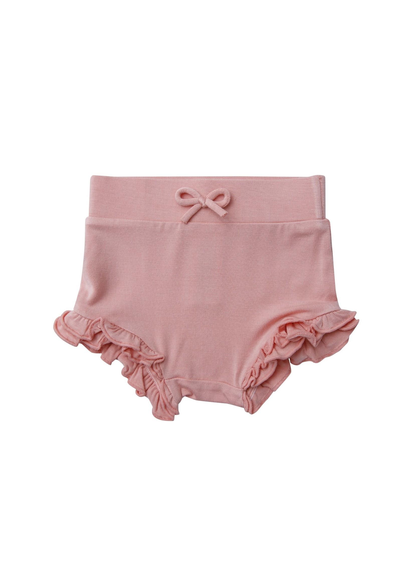 Angel Dear Angel Dear Solid Basics High Waist Shorts - Pink
