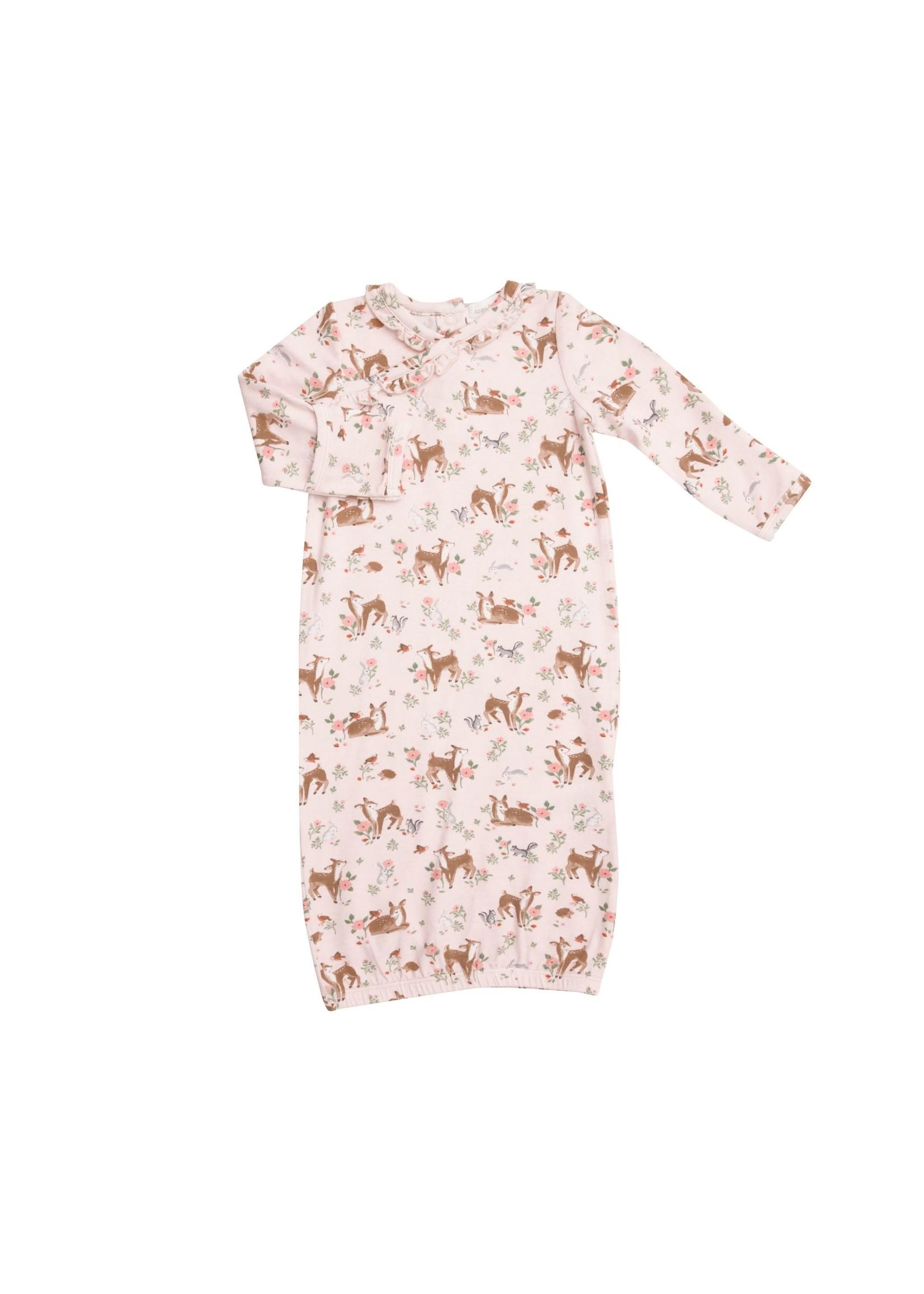 Angel Dear Woodland Animals Kimono Gown Pink