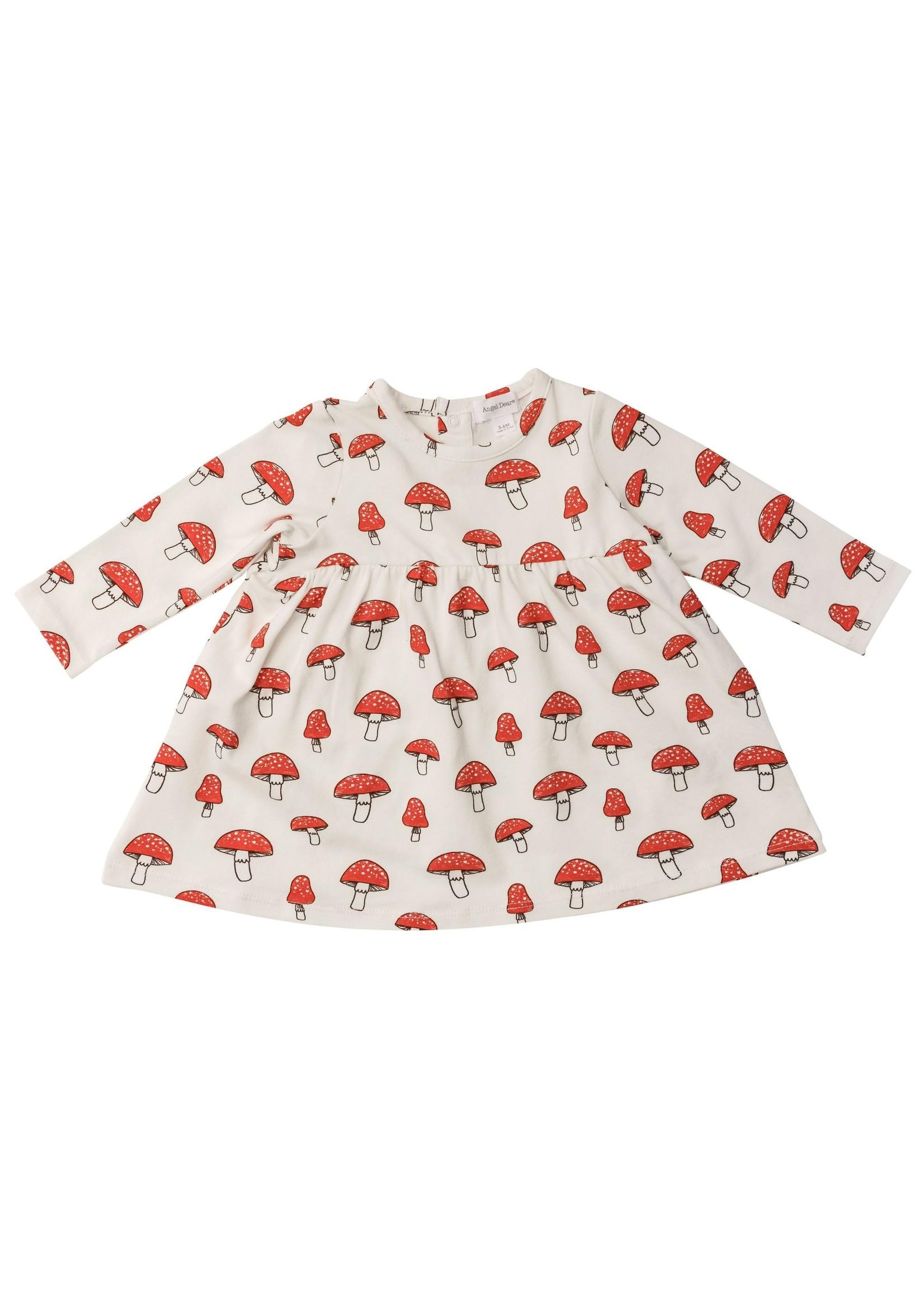 Angel Dear Mushrooms Simple Dress & Bloomer