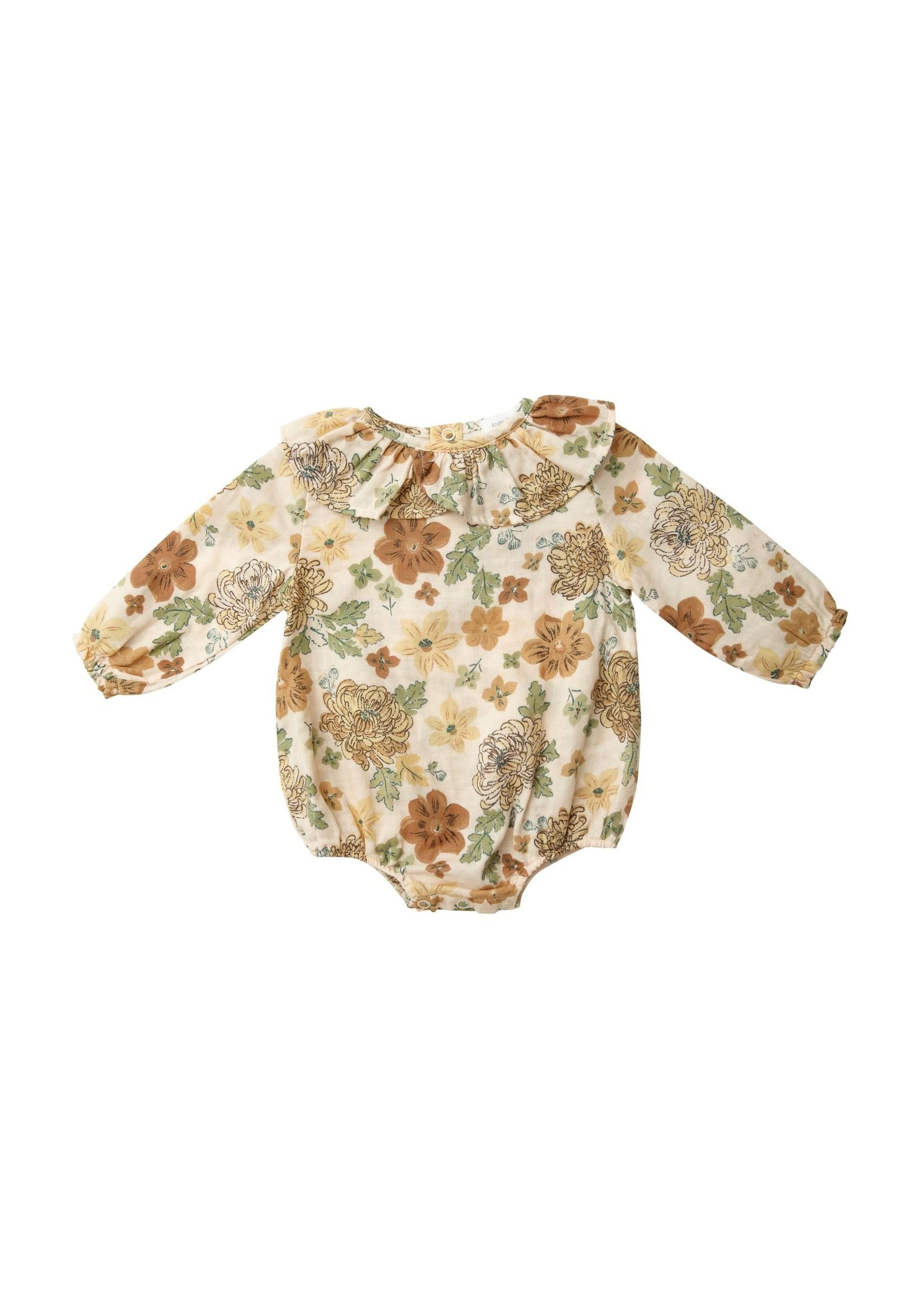 Angel Dear Chrysanthemum Ruffle Collar Bodysuit
