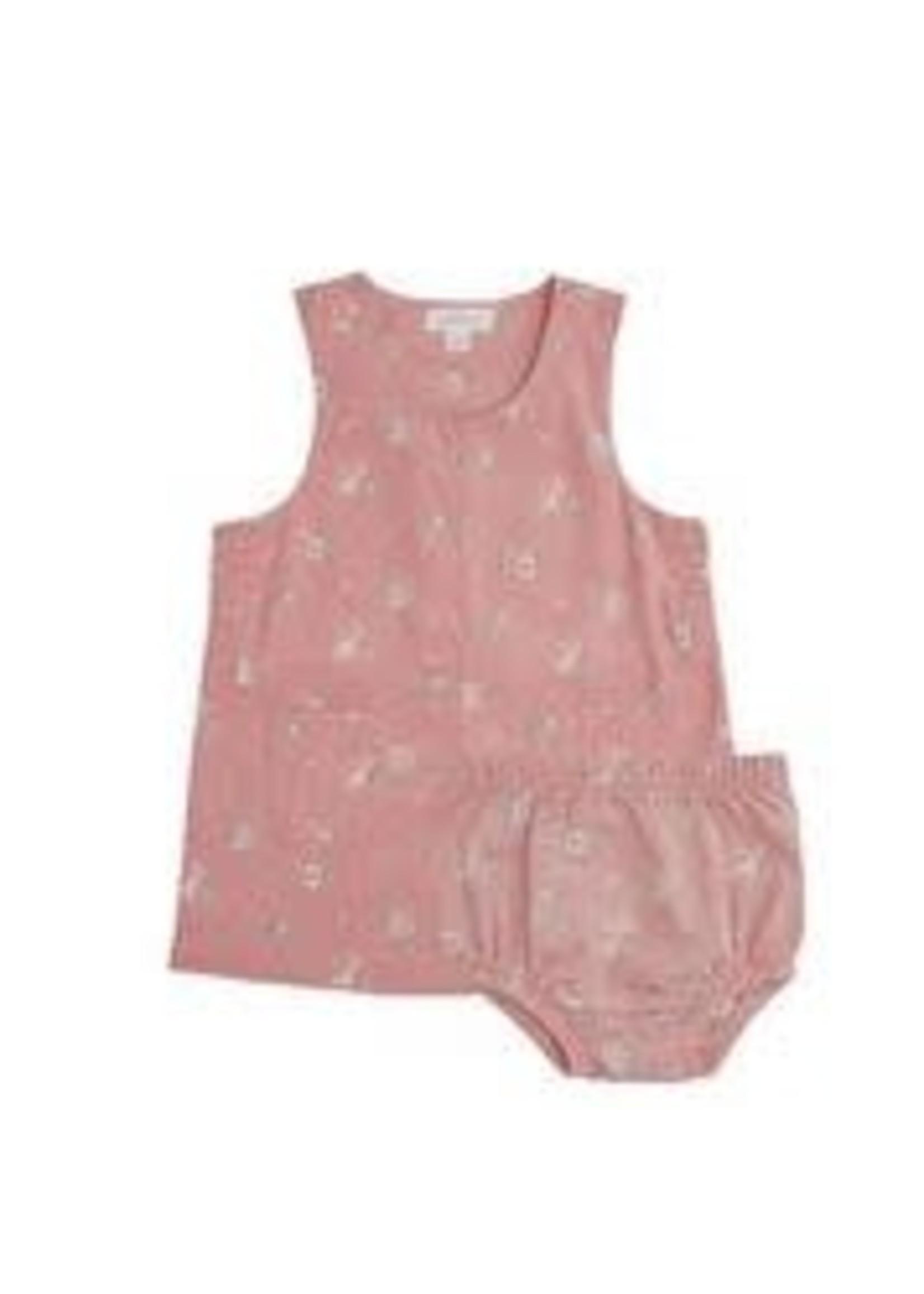 Angel Dear Mini Rose Corduroy Mod Dress