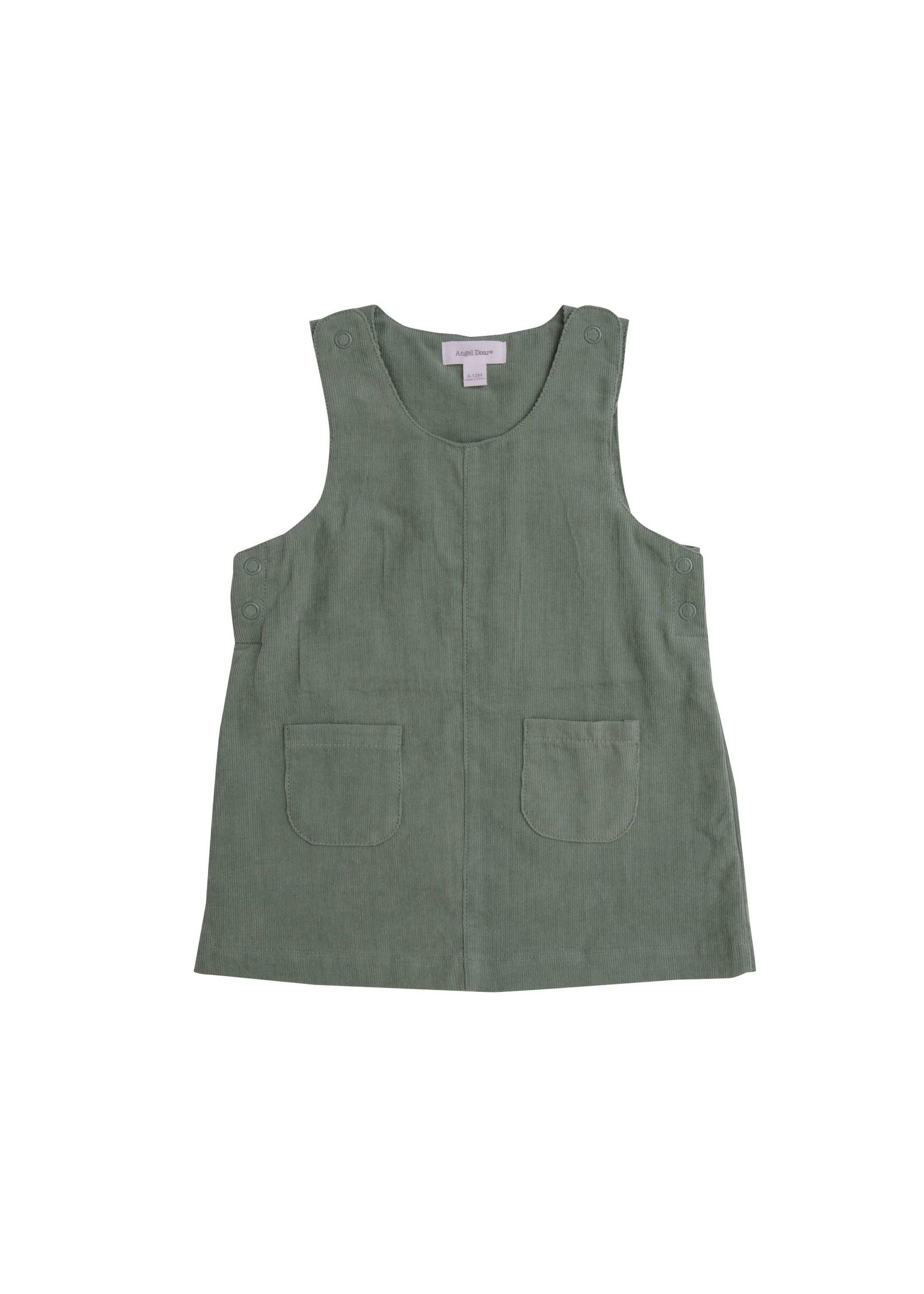 Angel Dear Hedge Green Corduroy Mod Dress